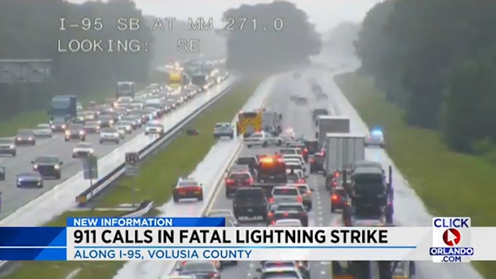 Motorcyclist is struck by lightning on highway