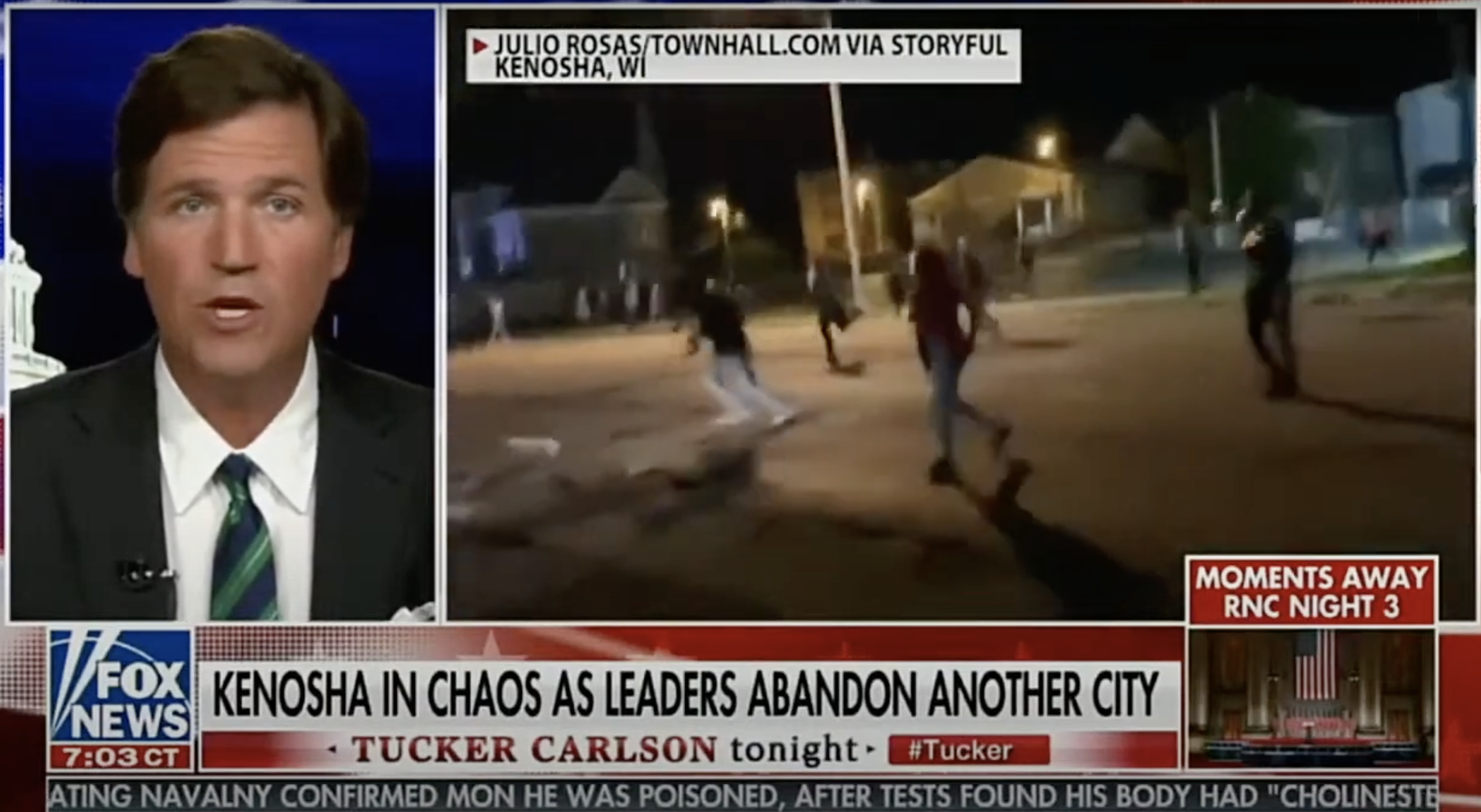 Tucker Carlson defends teen charged with killing Kenosha protesters - The  Washington Post