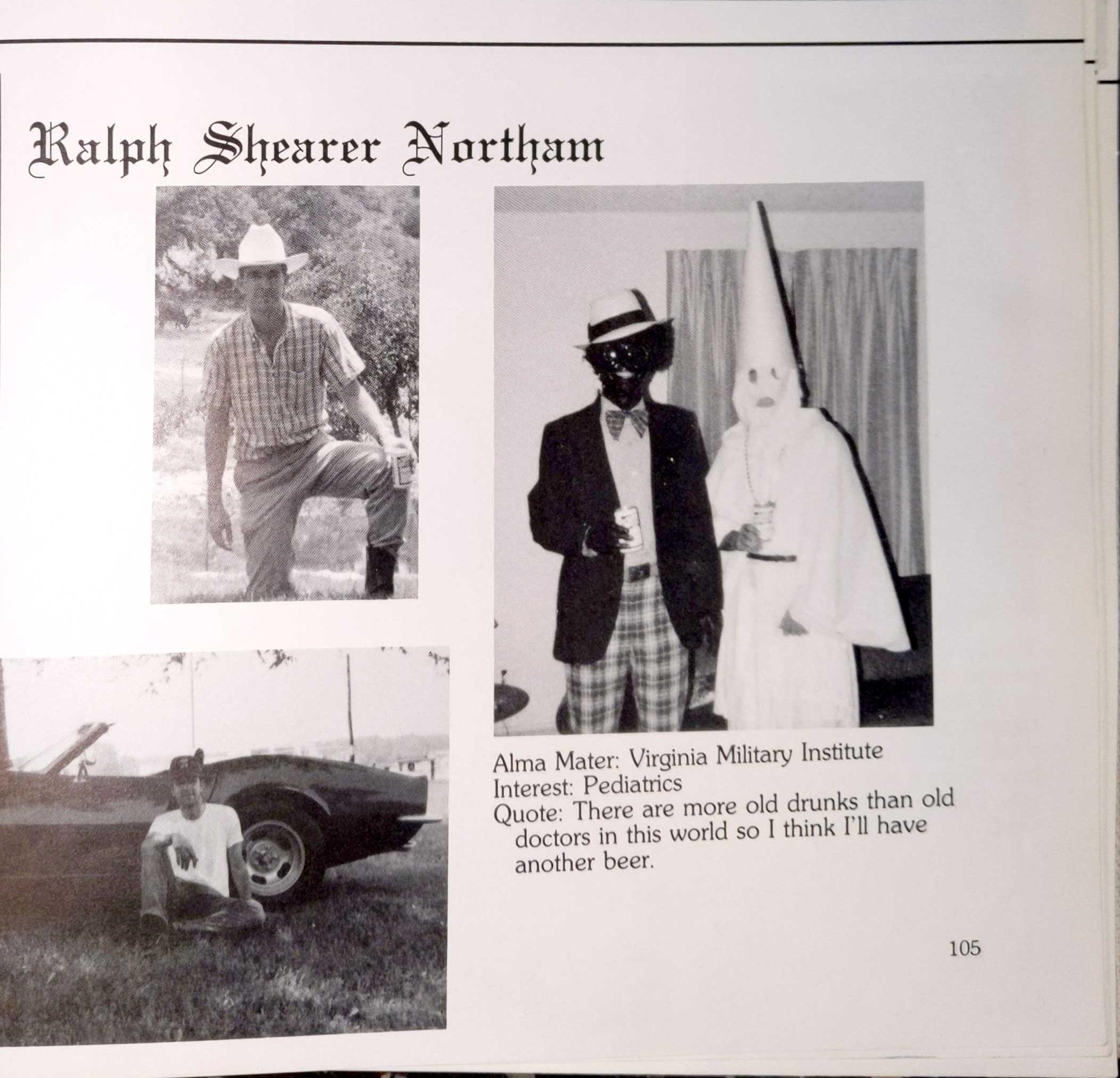 Kkk Halloween Costume Amazon.Virginia Gov Ralph Northam Admits He Was In 1984 Yearbook Photo