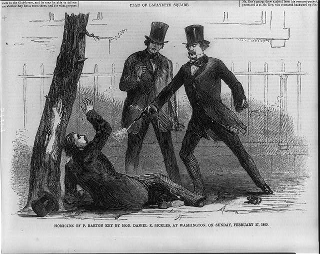 Rep. Dan Sickles killed Francis Barton Key, then claimed he was  'temporarily insane' because his wife cheated - The Washington Post
