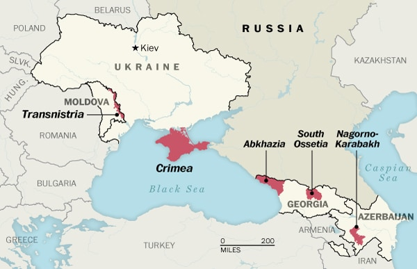 A map of Transnistria, Crimea, and other geographical 'gray areas' to be  worried about - The Washington Post