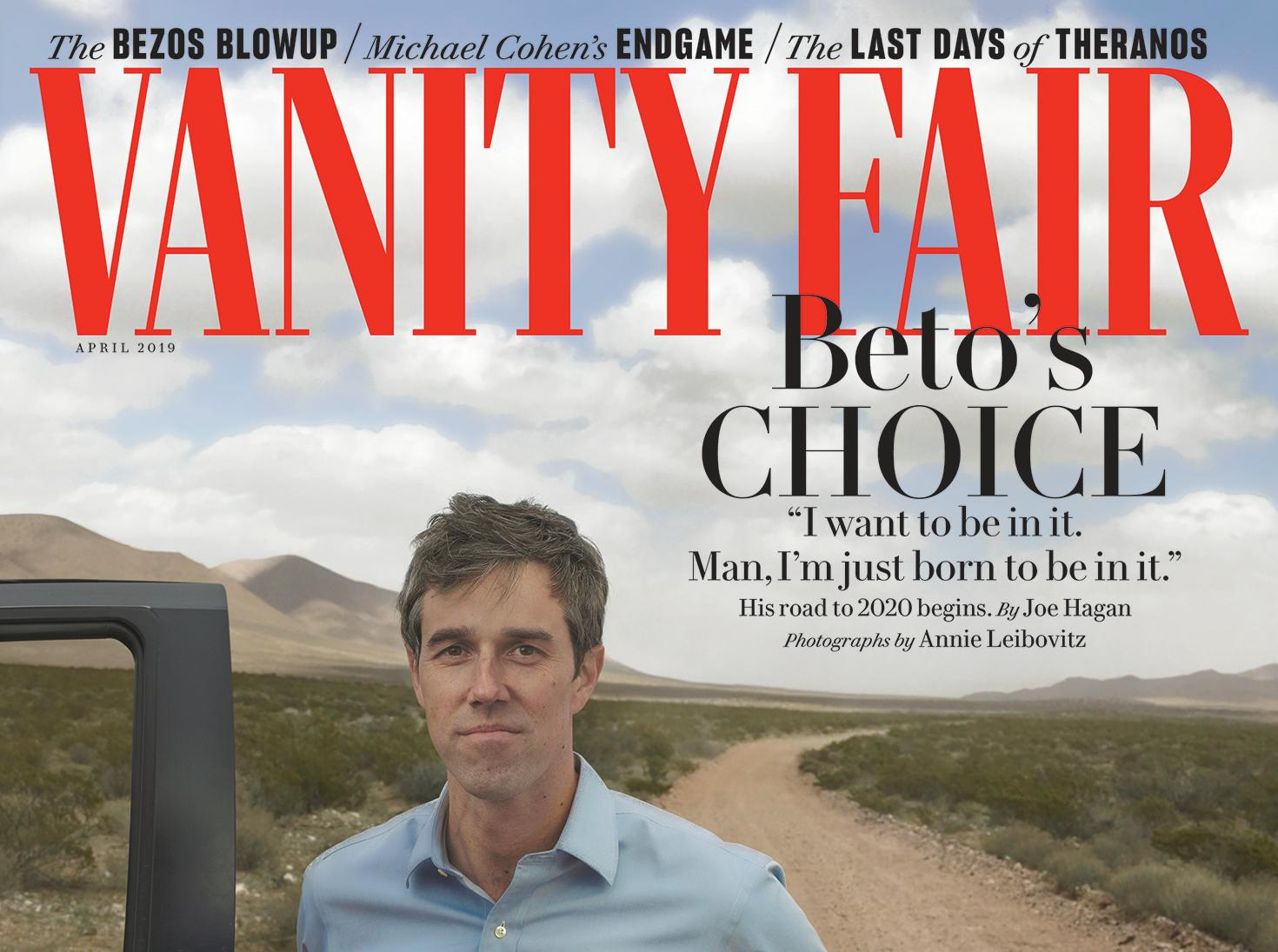 Vanity Fair April 2020.Beto O Rourke S Vanity Fair Cover Photo Had Some Remembering