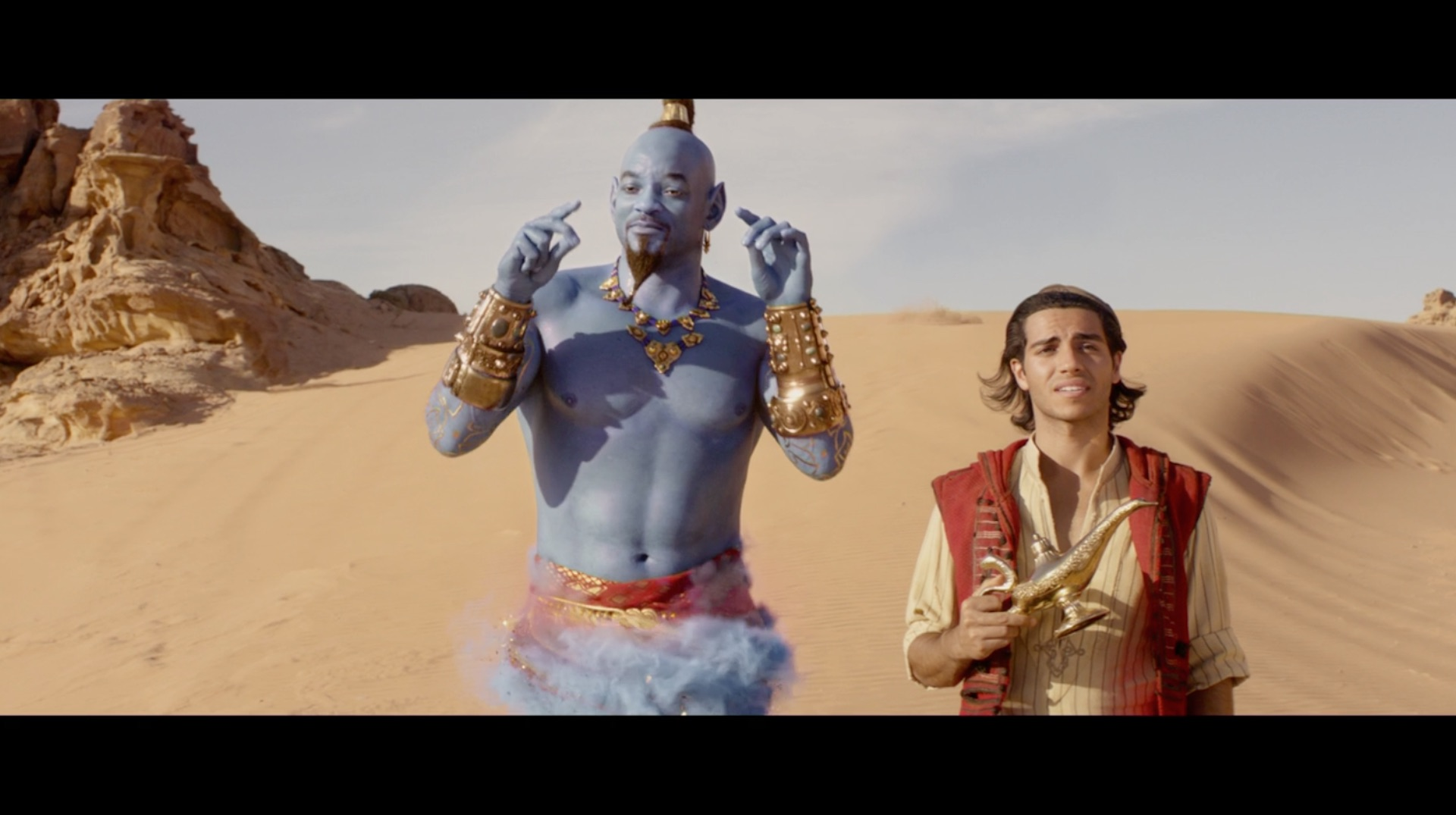 Aladdin' trailer: Will Smith is not blue, Jafar is not scary