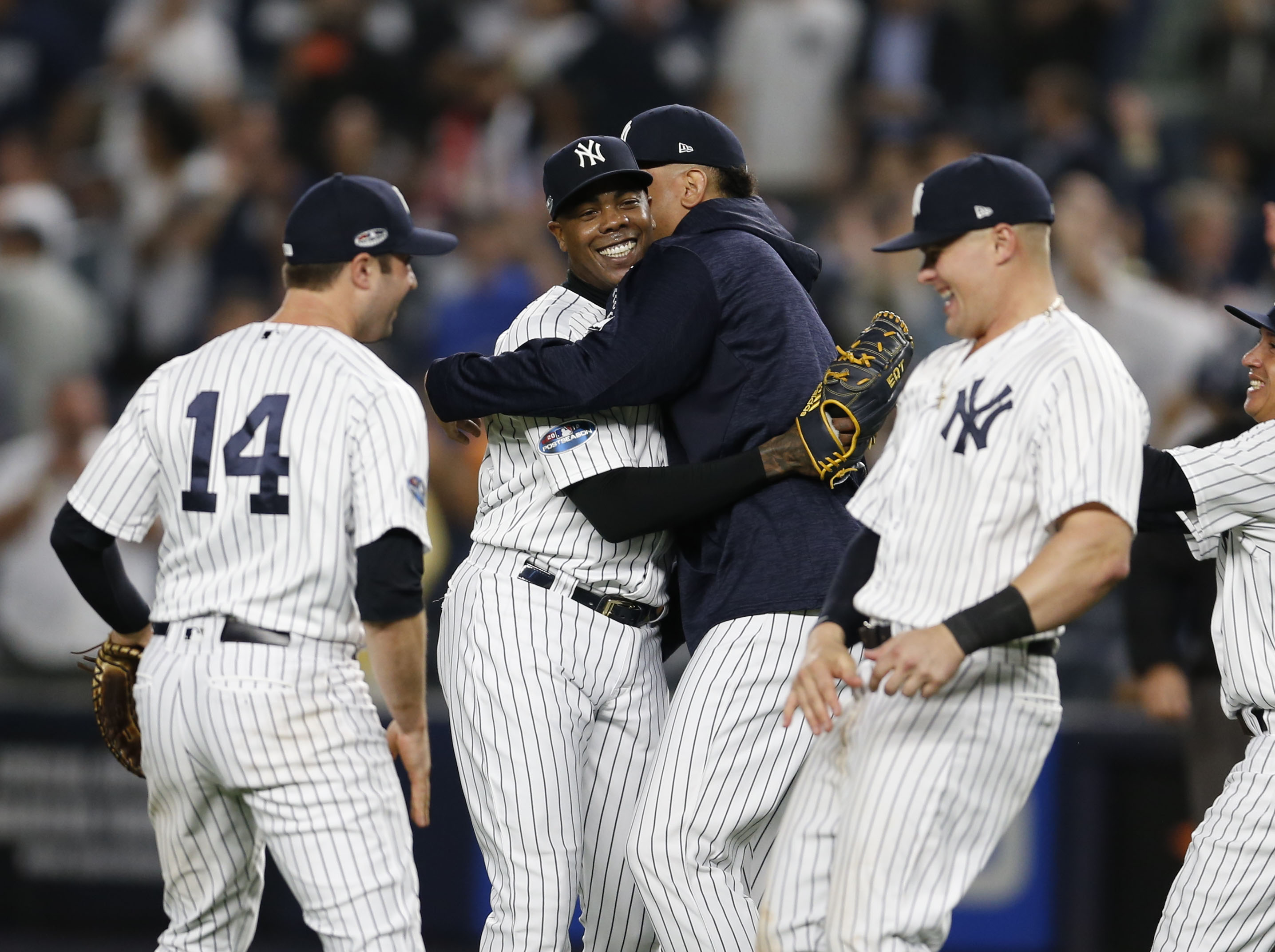 pretty nice d84de 53fd5 Yankees dispatch A's in AL wild-card game, earn ALDS date ...