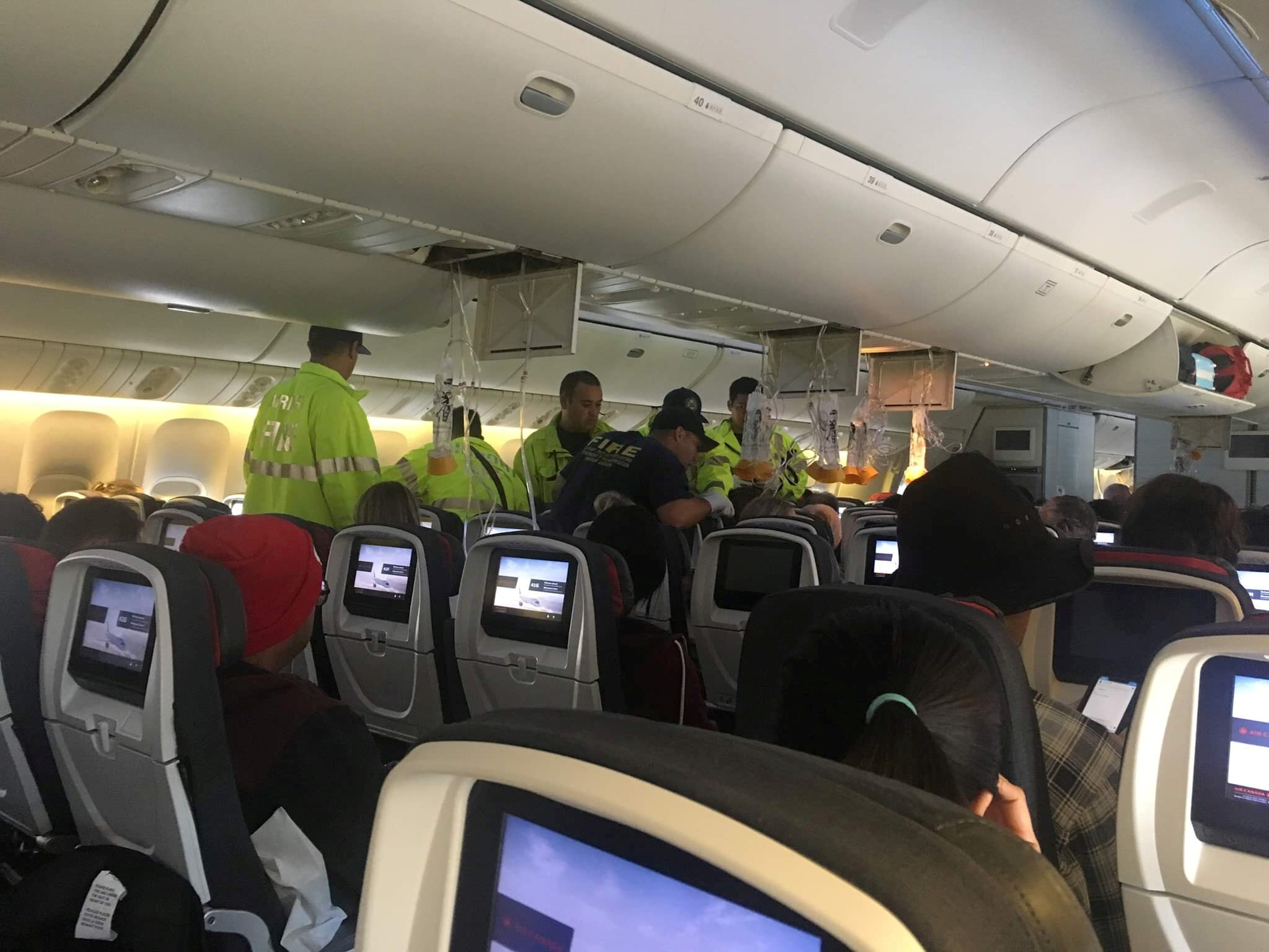 Turbulence injures 37, forces Air Canada flight to land in