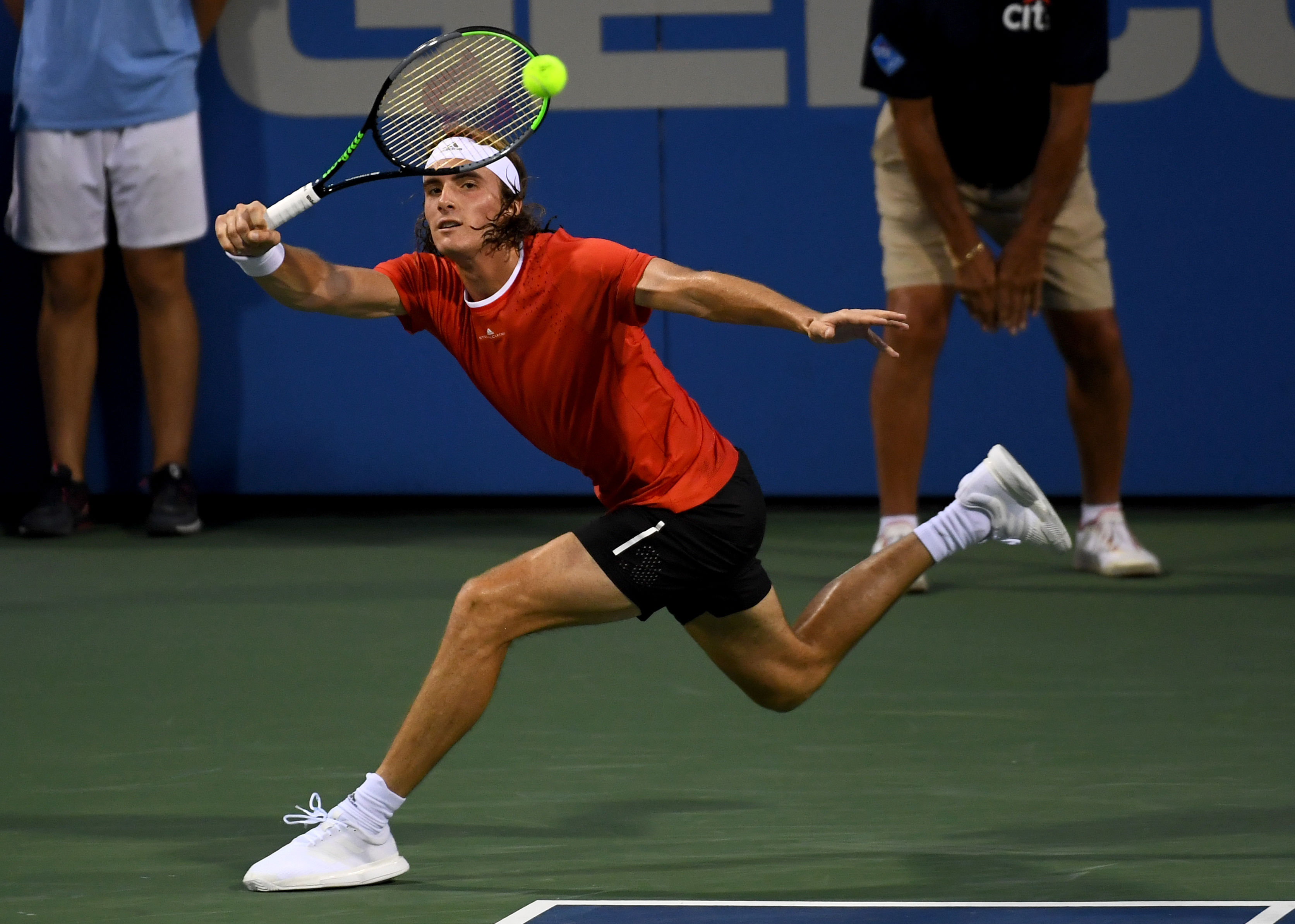 Top Seeded Stefanos Tsitsipas Weathers A Frustrating Match Advances To Citi Open Quarterfinals The Washington Post