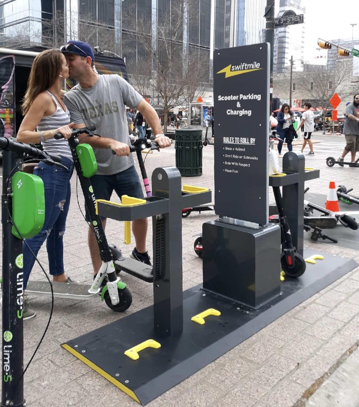 washingtonpost.com - Peter Holley - E-scooter startup Spin will place dozens of solar-powered docking stations in two cities this summer