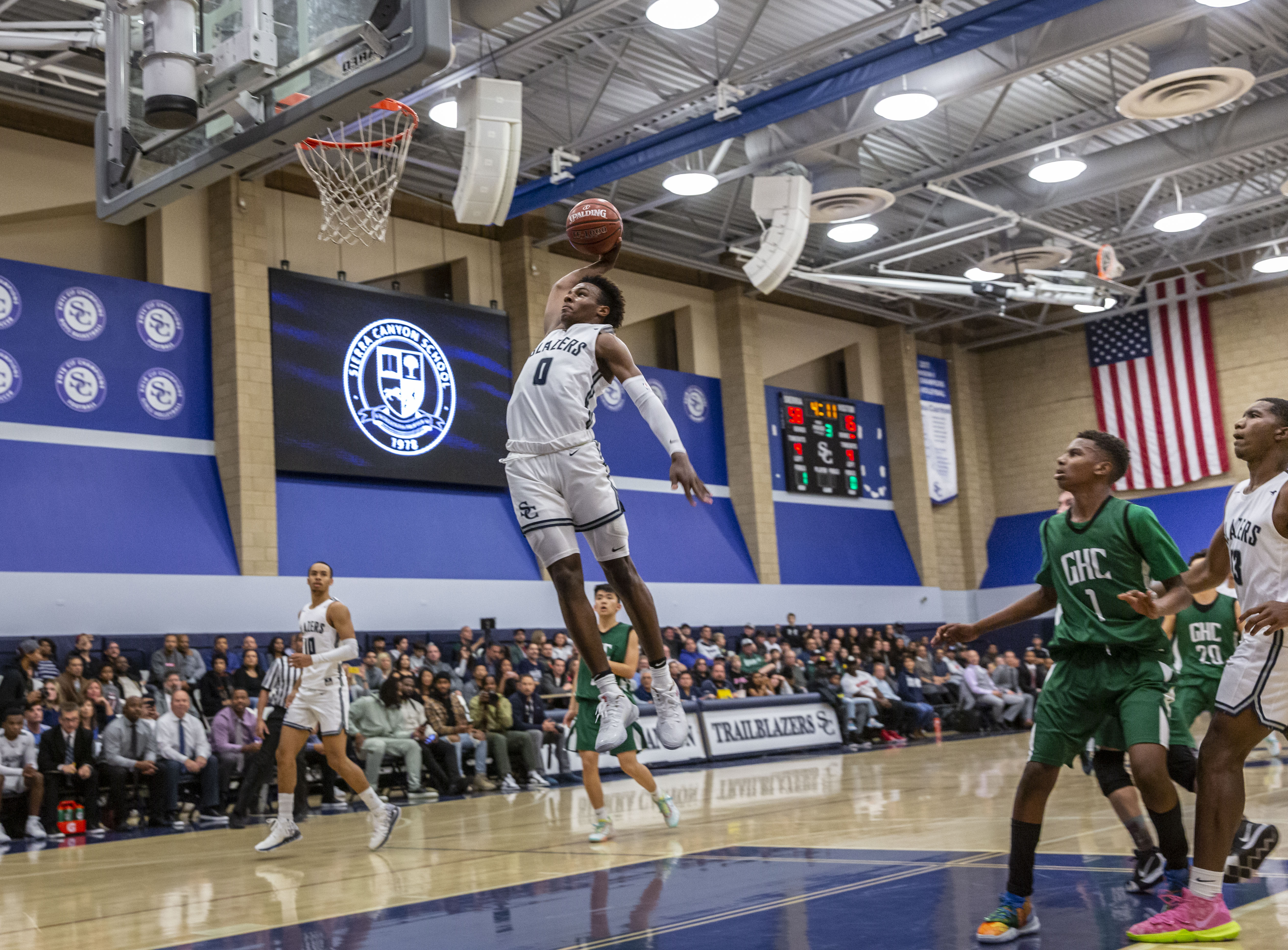 Bronny James Sierra Canyon Spectacle Espn Cameras Sold Out Crowds And Security Guards The Washington Post