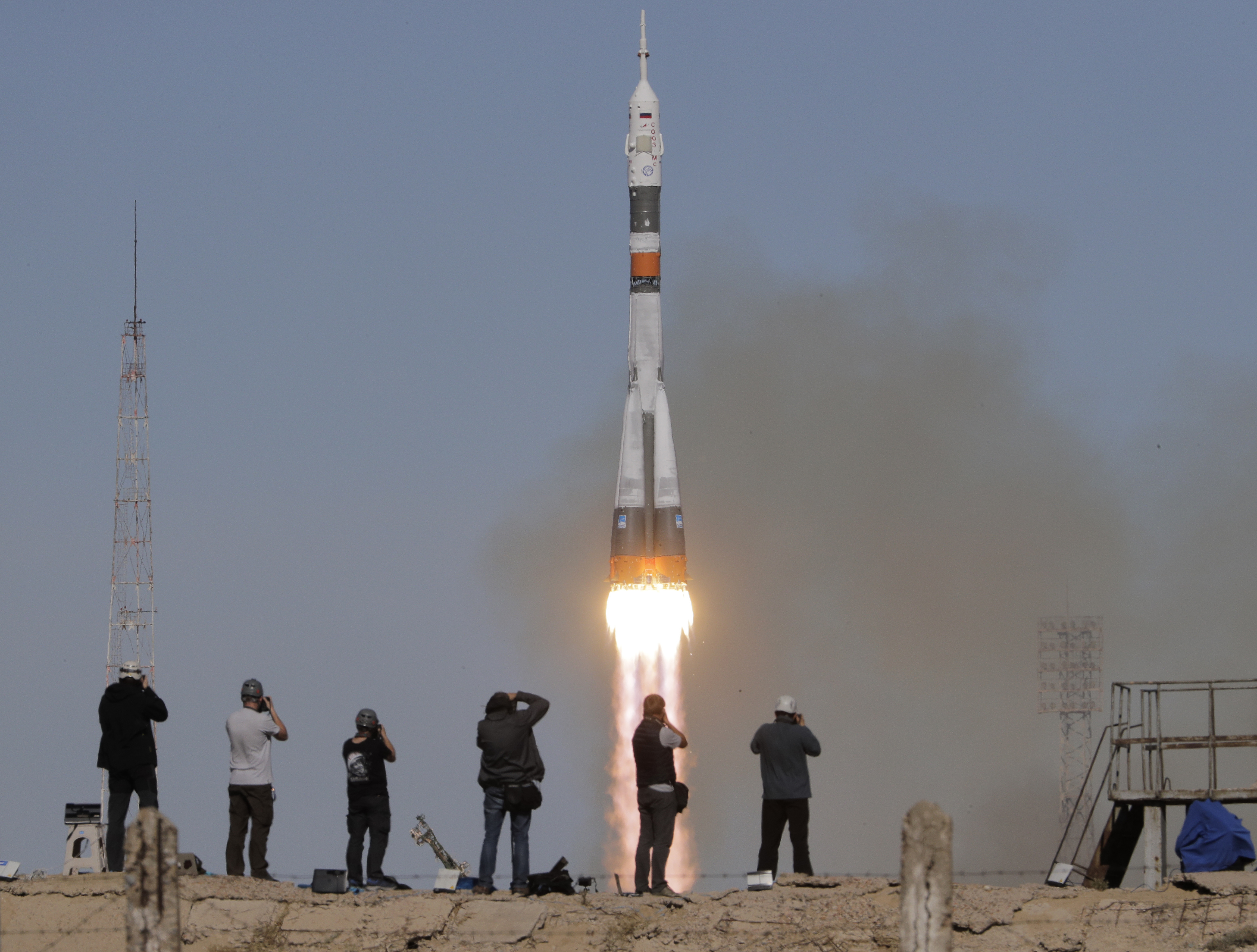 American, Russian alive after Soyuz rocket headed to space station fails on launch