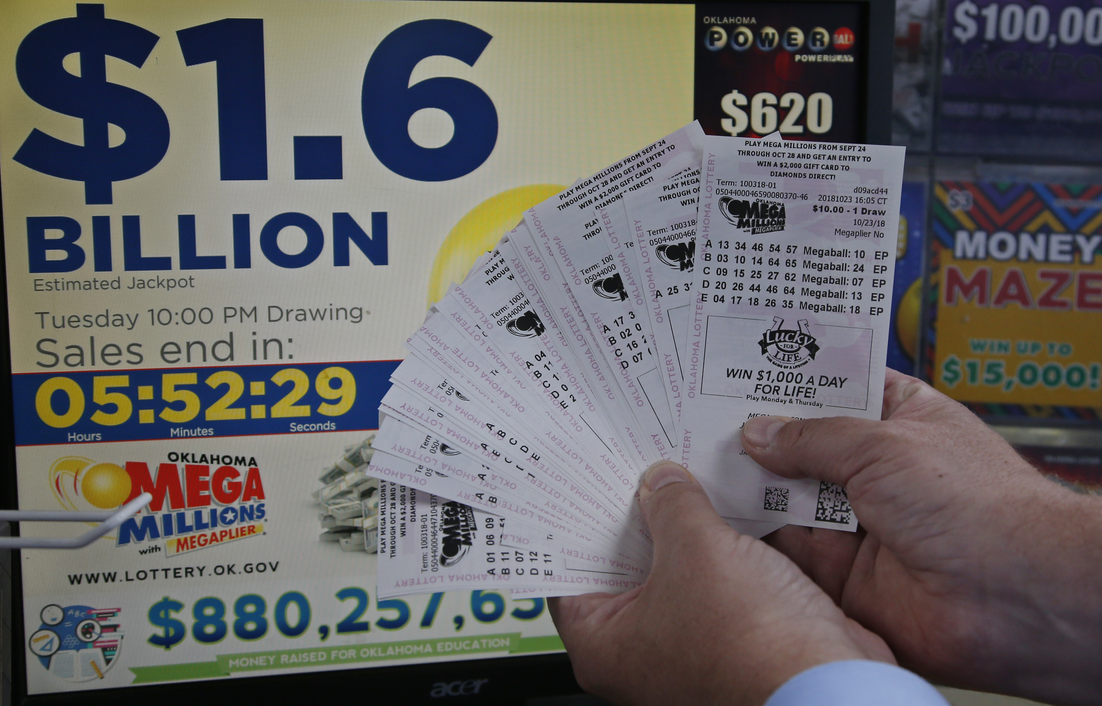 Mega millions results october 23 winning numbers