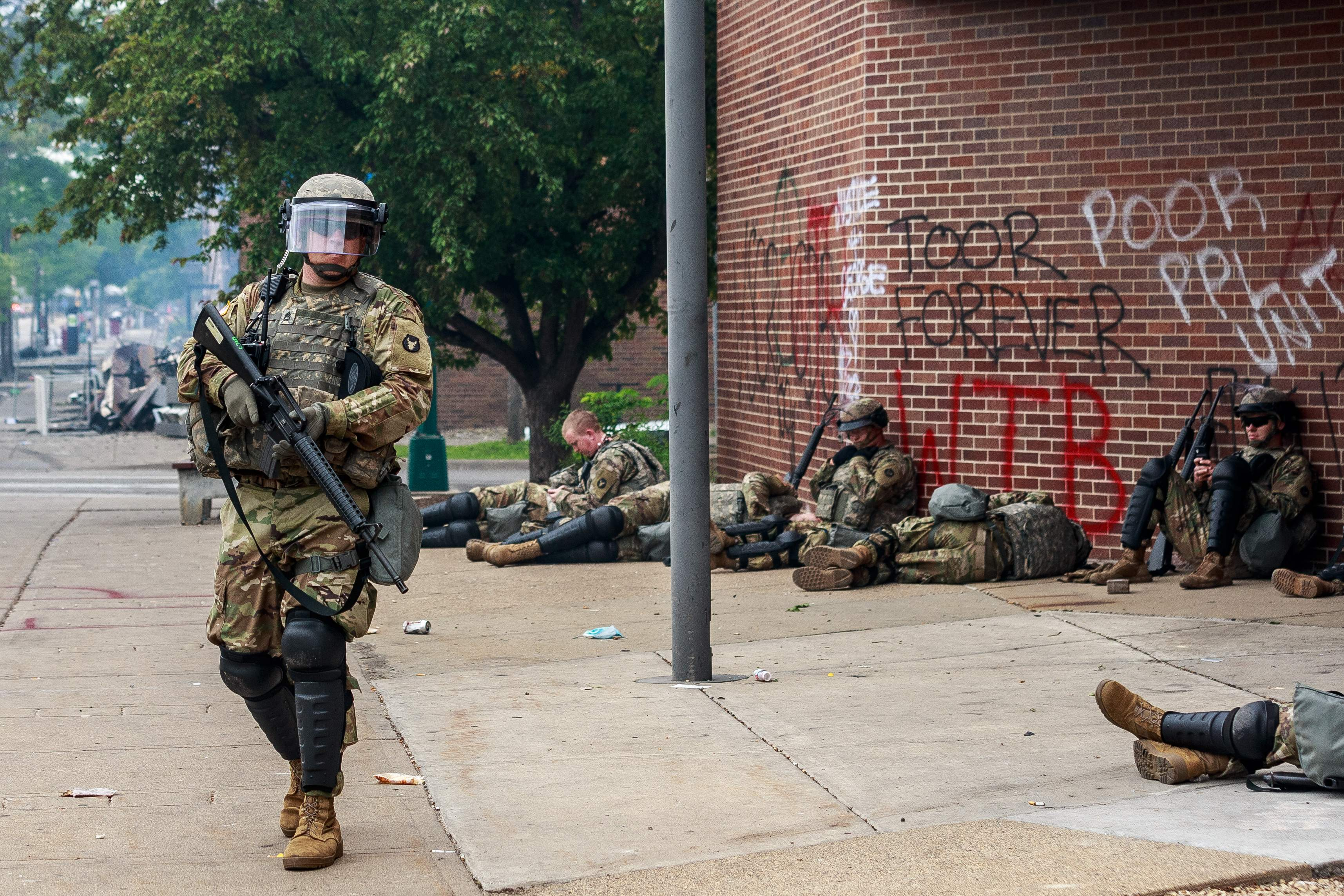 Trump Pulls Military Into Political Fray Of Minneapolis Unrest But