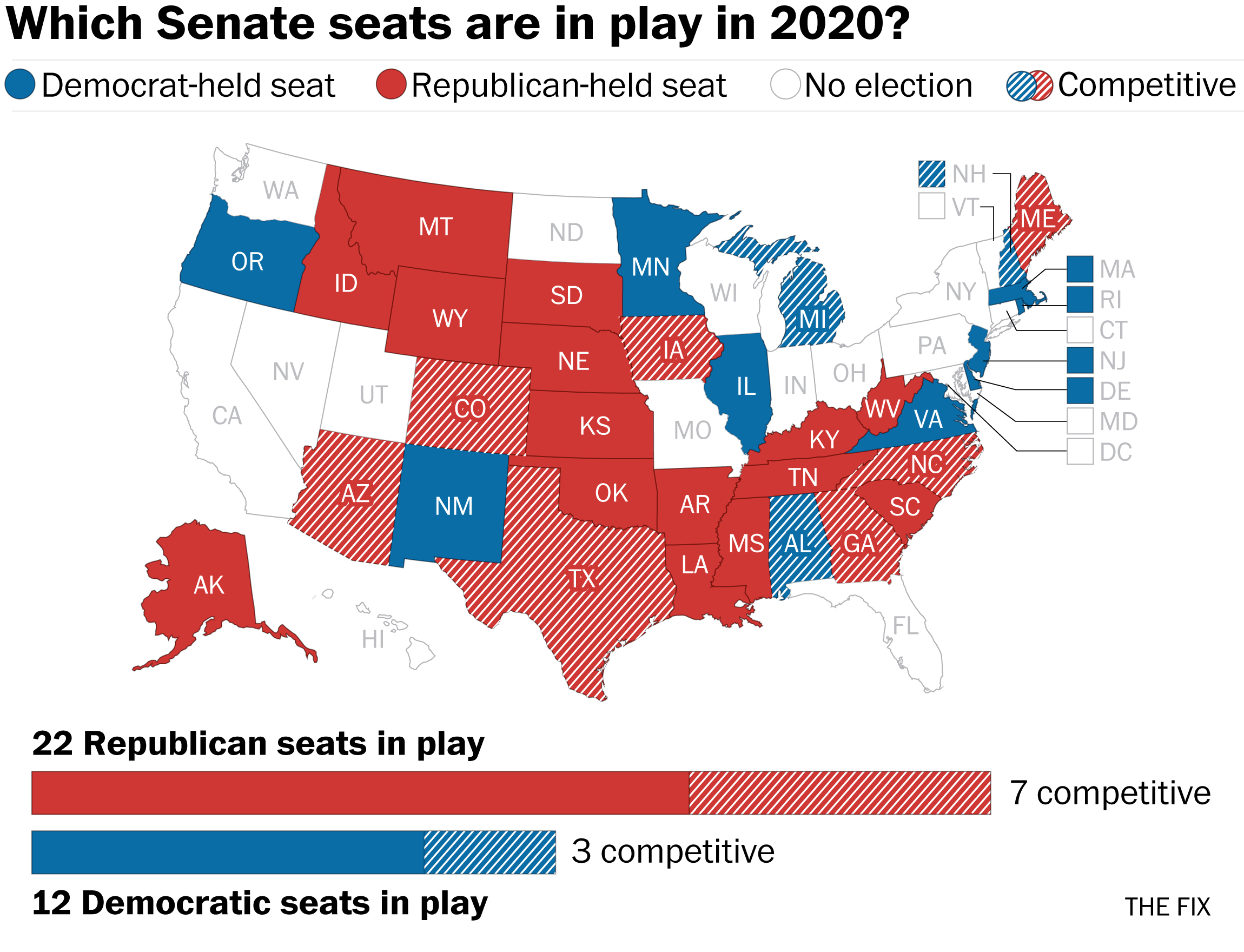 The 10 Senate seats most likely to flip in 2020 - The ...