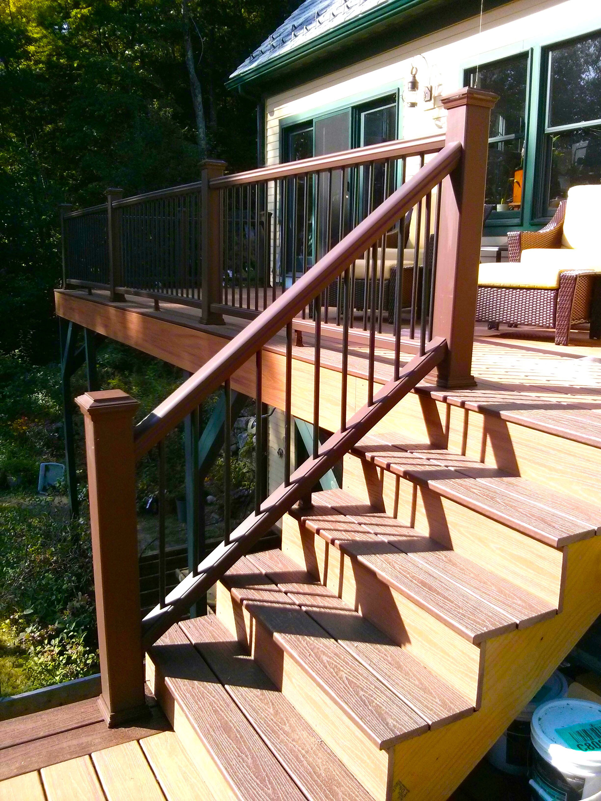 Image of: How To Build A Railing For Deck Stairs The Washington Post