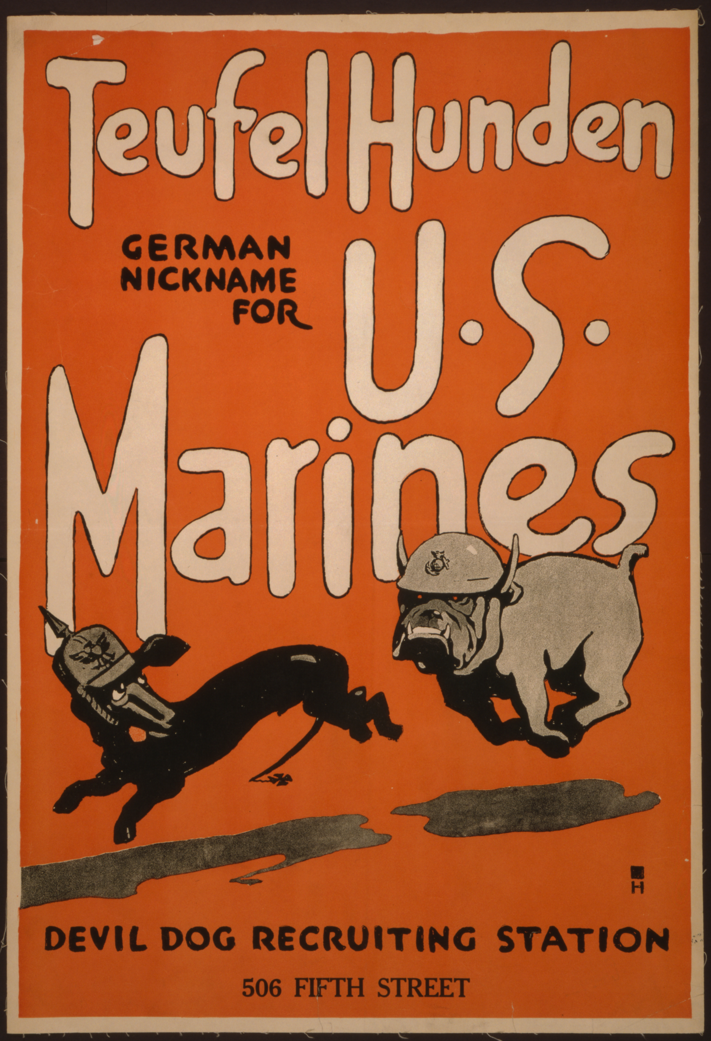 WW1 German Fears Nothing Else in the World Poster