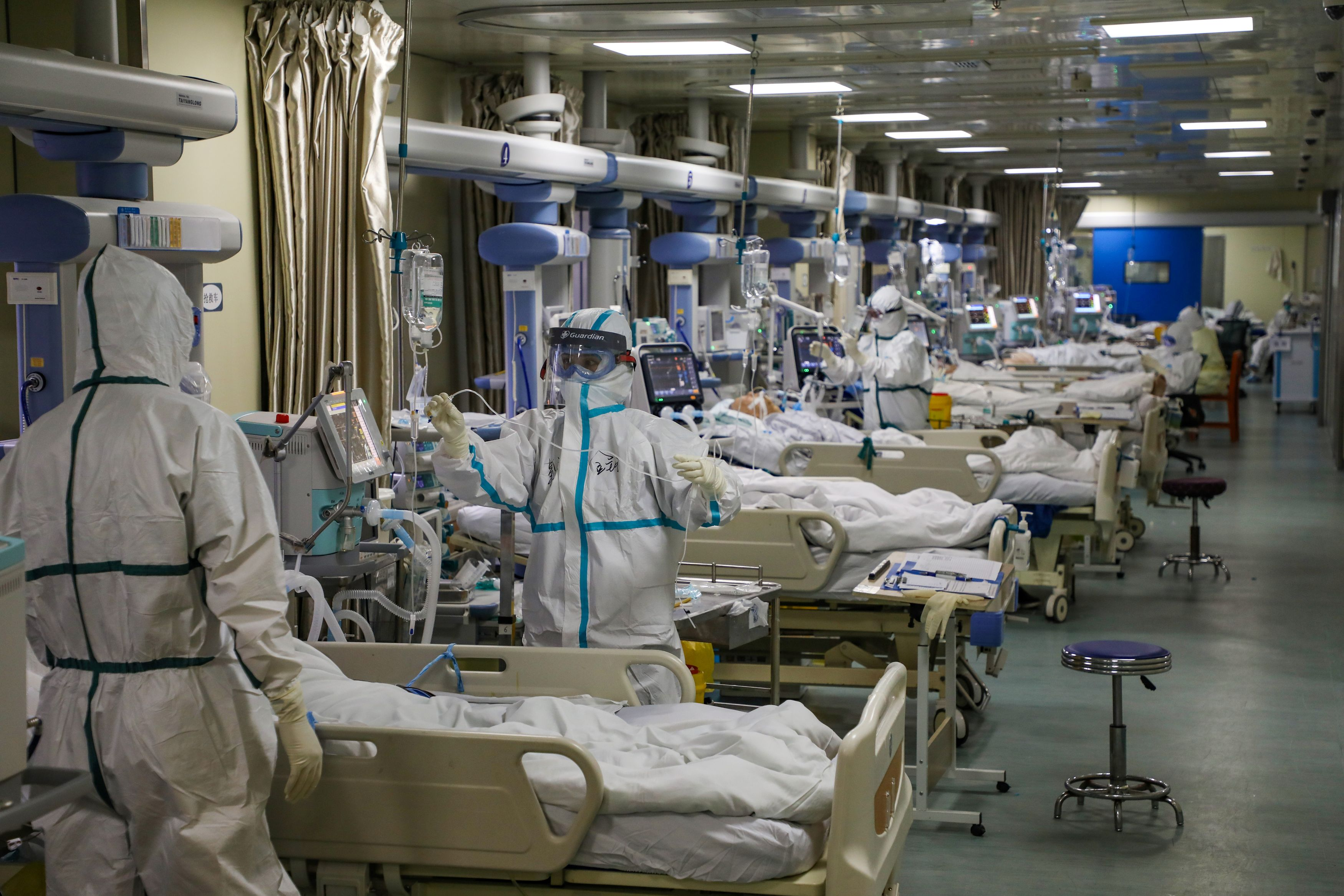 ICU patients with coronavirus and pneumonia treated in Wuhan ...