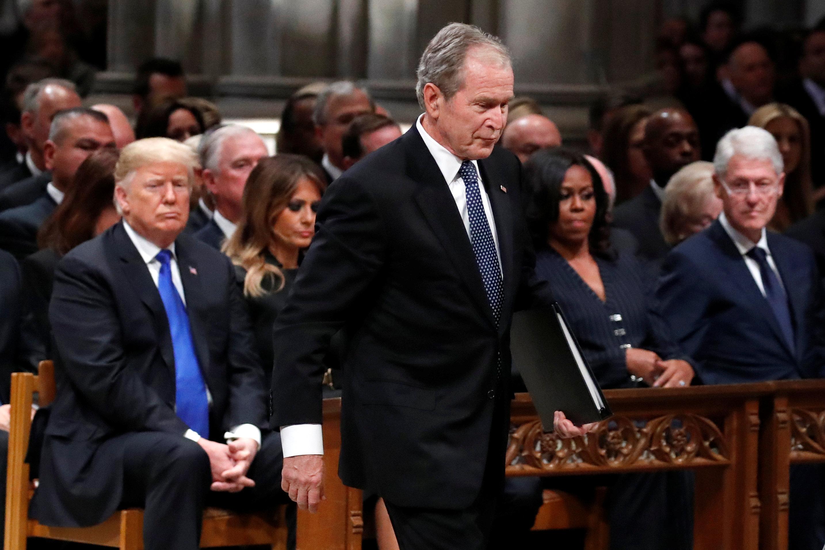 George H.W. Bush's funeral was a powerful renunciation of Trump