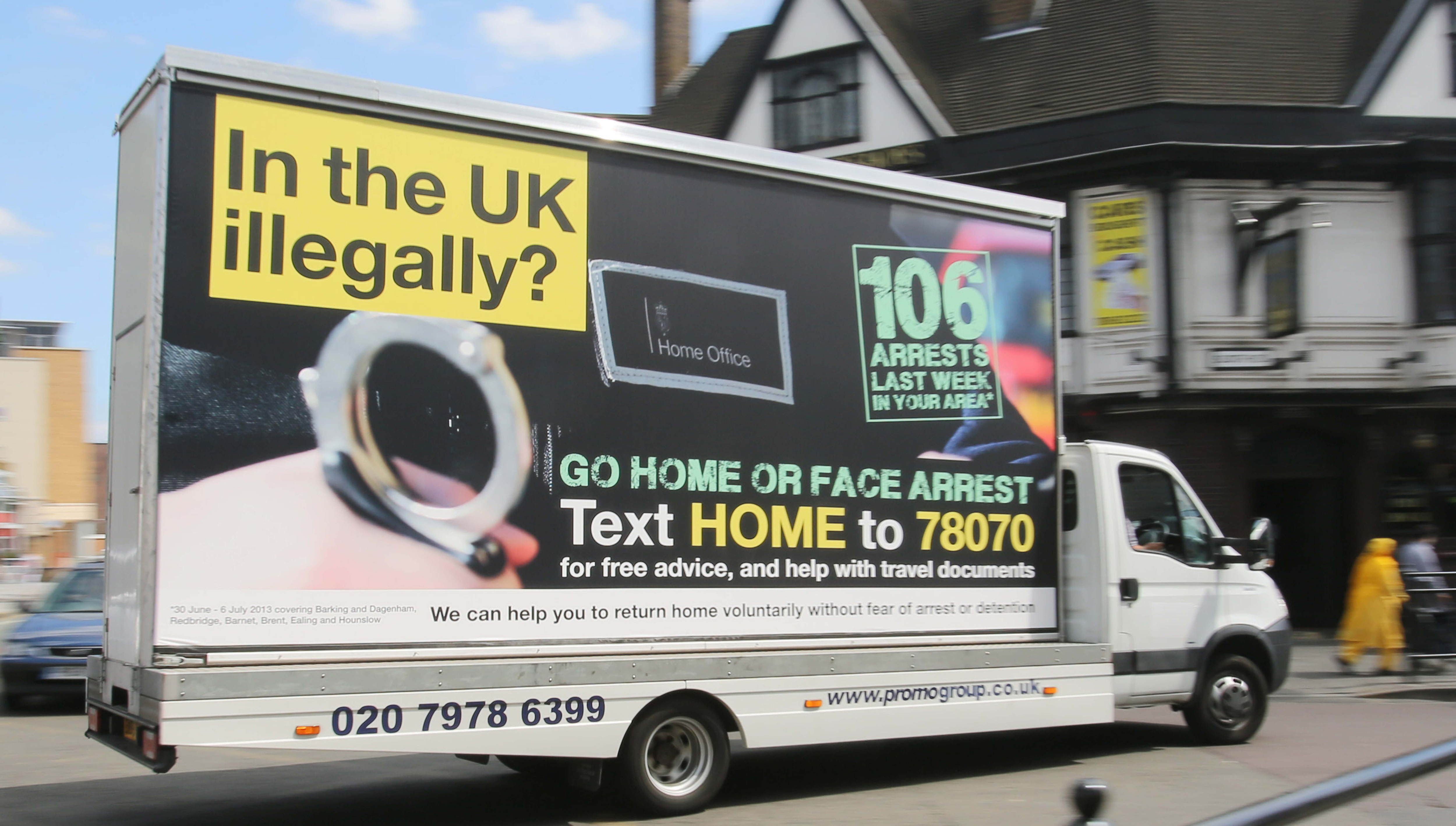 cheapest best sell fashion style Theresa May's Go Home vans haven't been forgotten by Brits ...