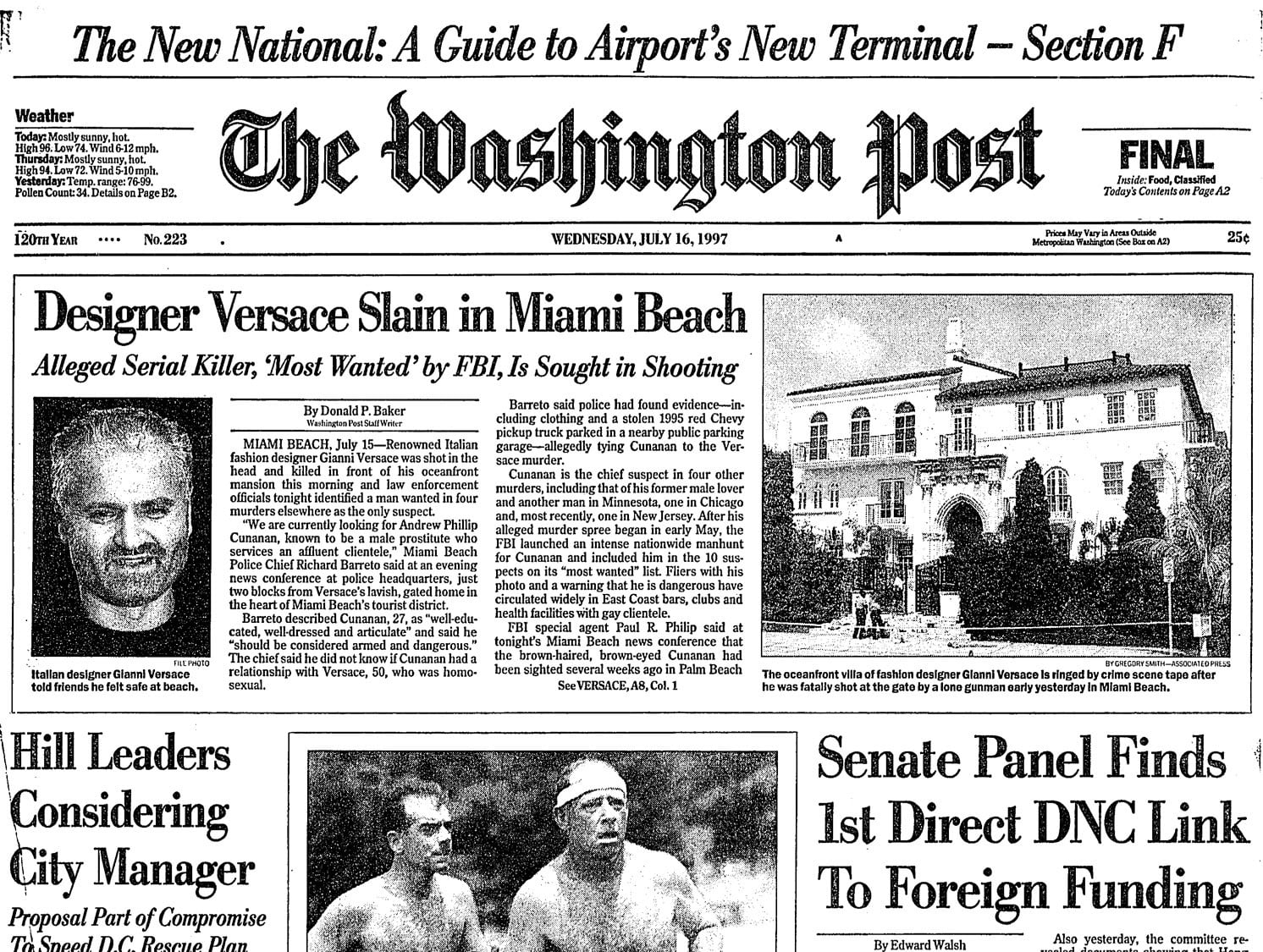 Fact Checking The Assassination Of Gianni Versace Did The Fashion Mogul Date His Killer The Washington Post