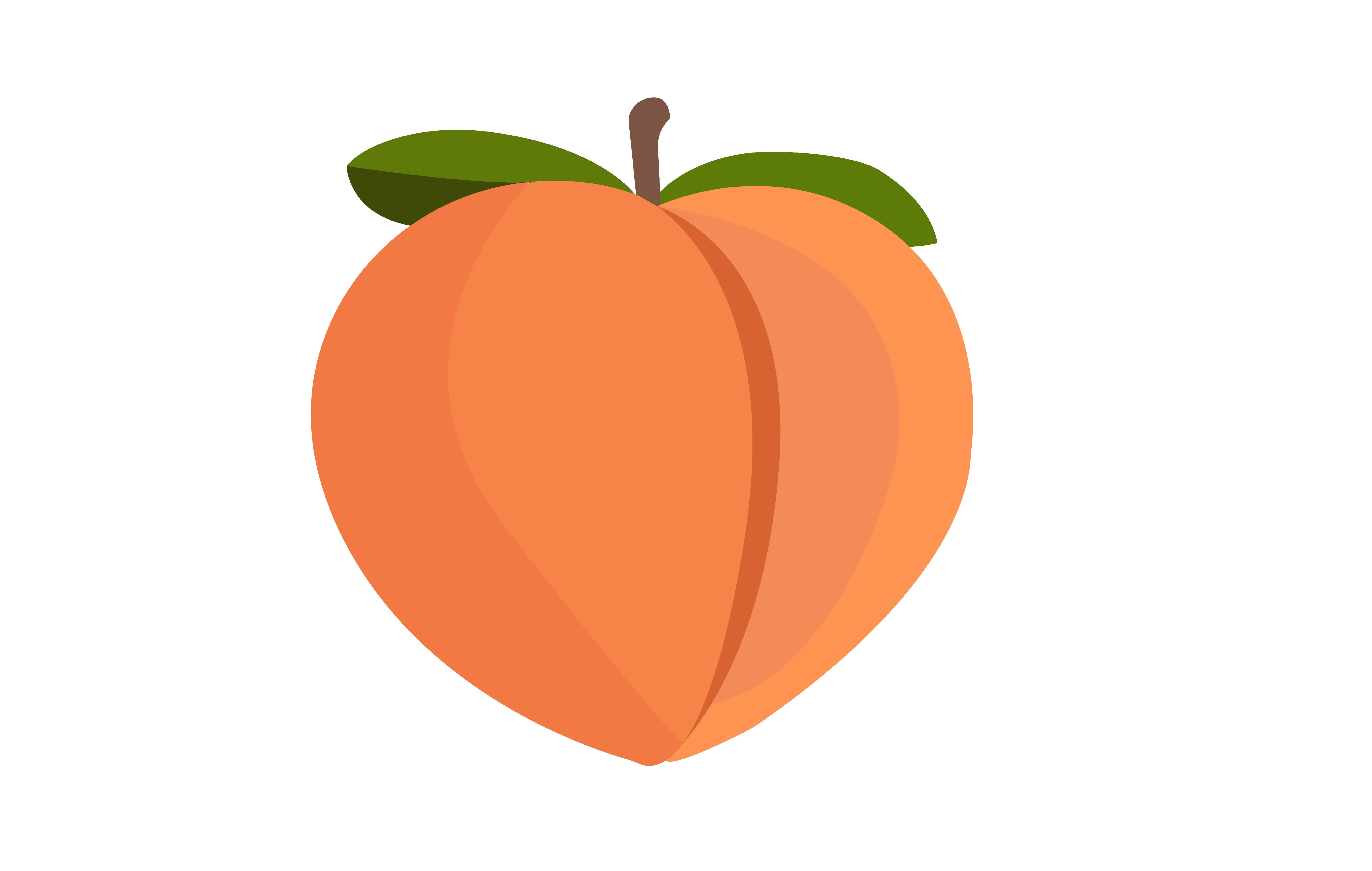 Peach Emoji Clipart