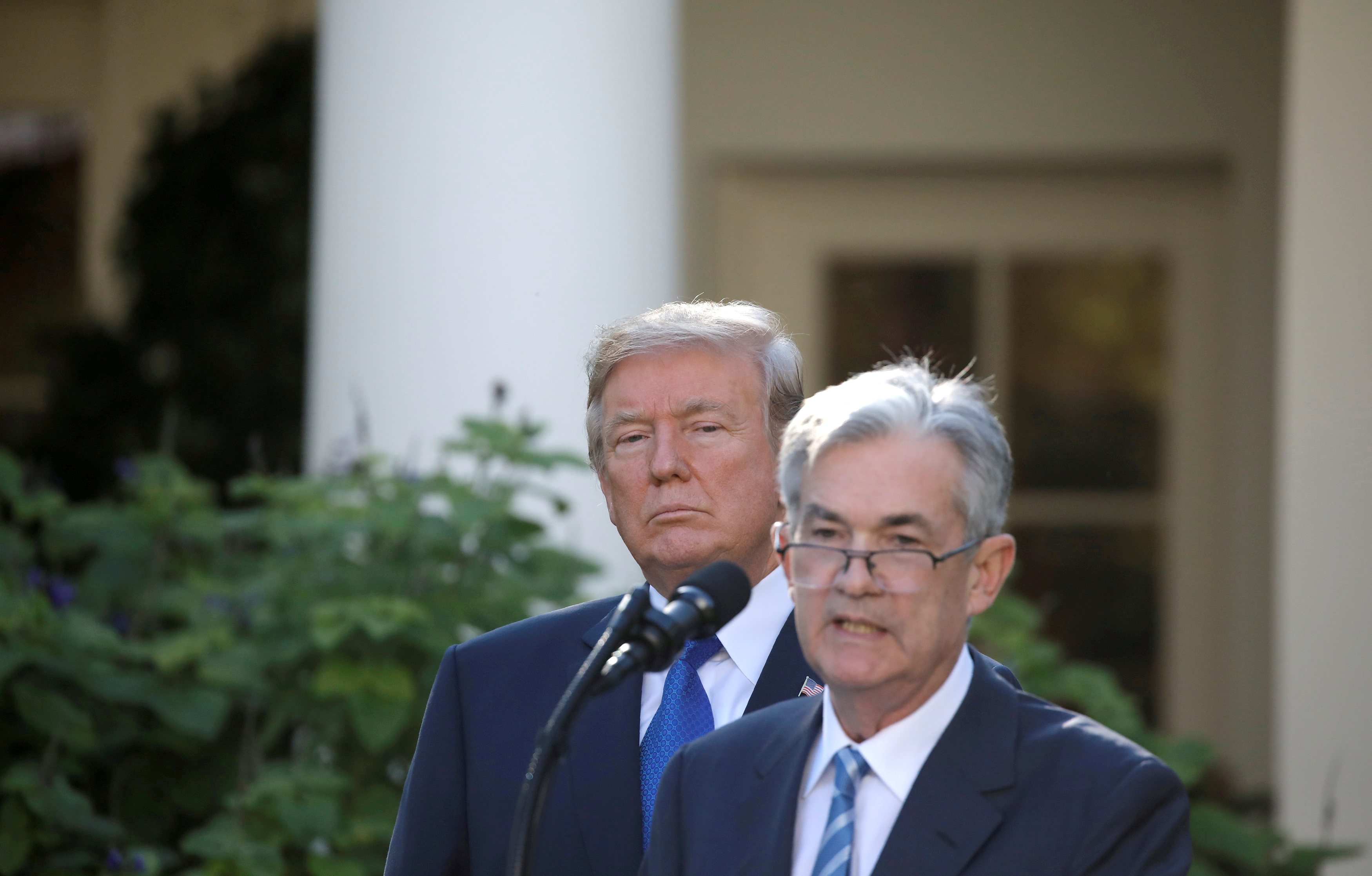 Trump says Fed Chair Jerome Powell's job is 'safe' after having slammed him for 'no guts'