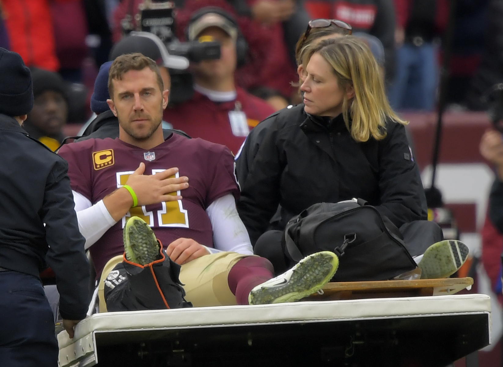 A Timeline Of Alex Smith S Recovery From Leg Injury To Playoffs The Washington Post