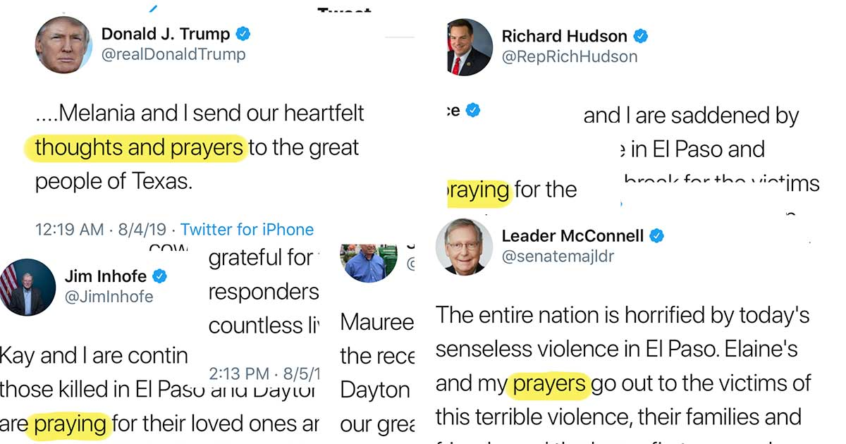 Republicans' thoughts and prayers have become a cruel joke