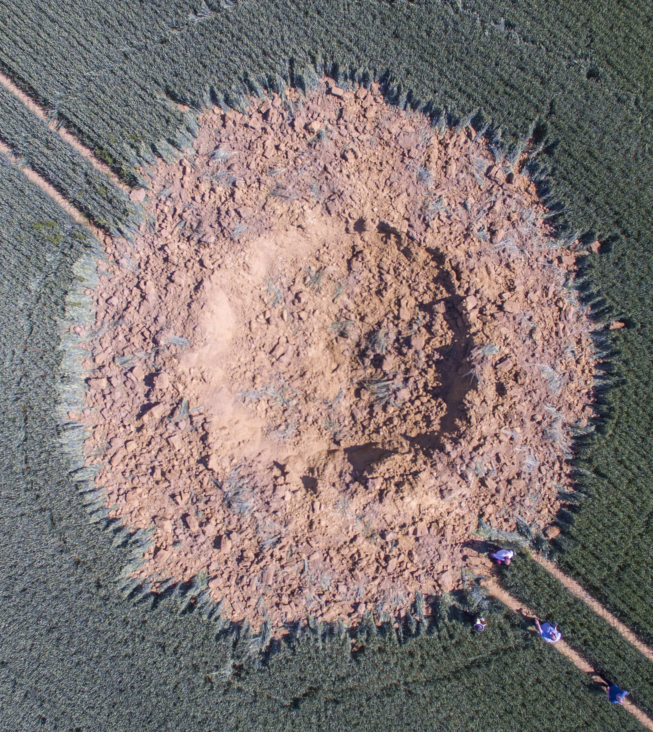 World War II bomb in Germany likely cause of massive crater