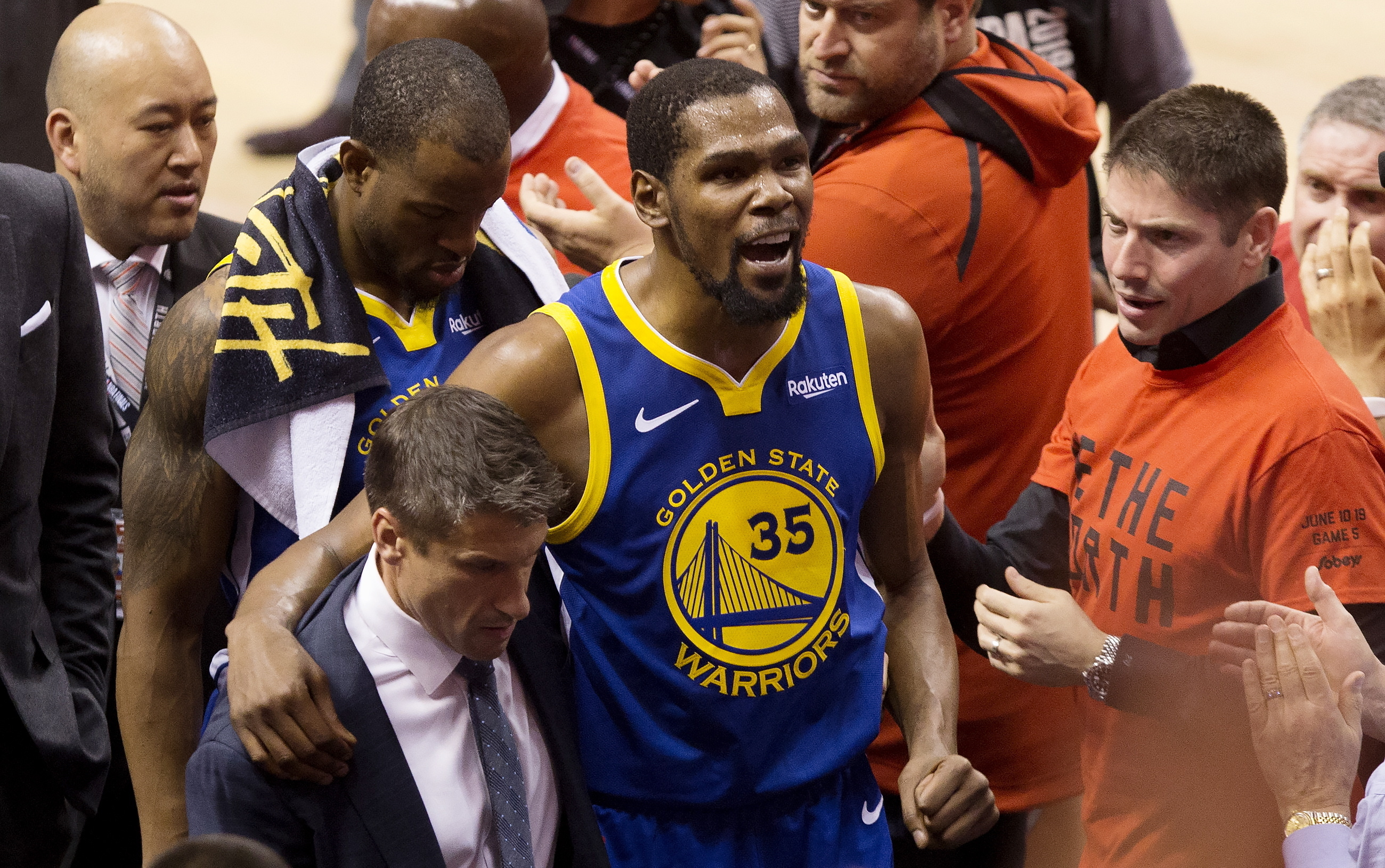 separation shoes 3db0b 75b23 Warriors survive Game 5 and Kevin Durant's Achilles' injury ...