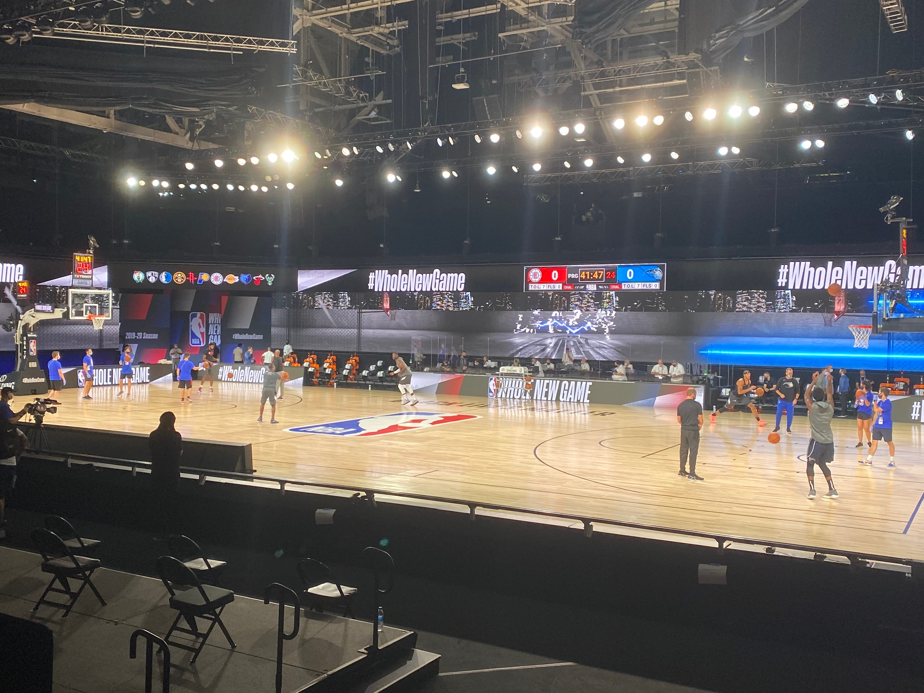 Nba Begins Bubble Scrimmages On A Made For Tv Stage At Disney The Washington Post