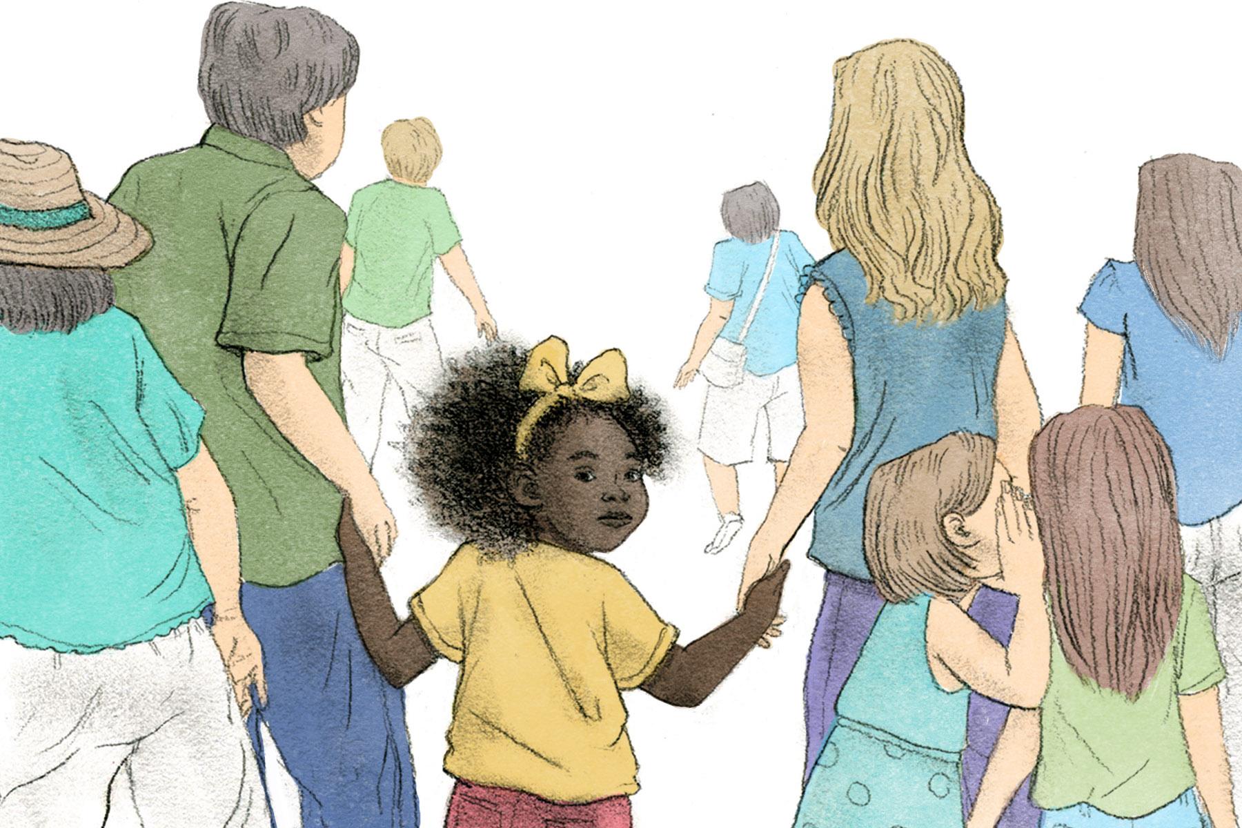 Baby black white has woman White Baby