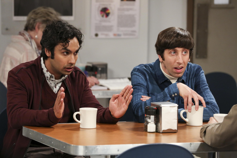 "Rajesh Koothrappali (Kunal Nayyar) and Howard Wolowitz (Simon Helberg) in the series finale of ""The Big Bang Theory."" (Michael Yarish/Warner Bros. Entertainment)"