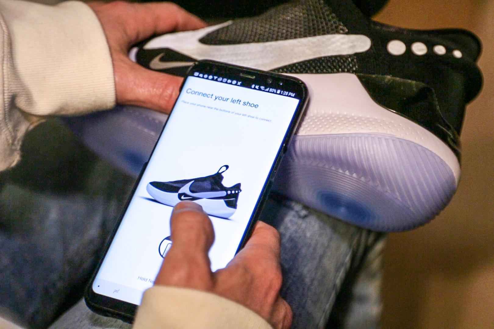 Nike's self-lacing Adapt BB sneakers