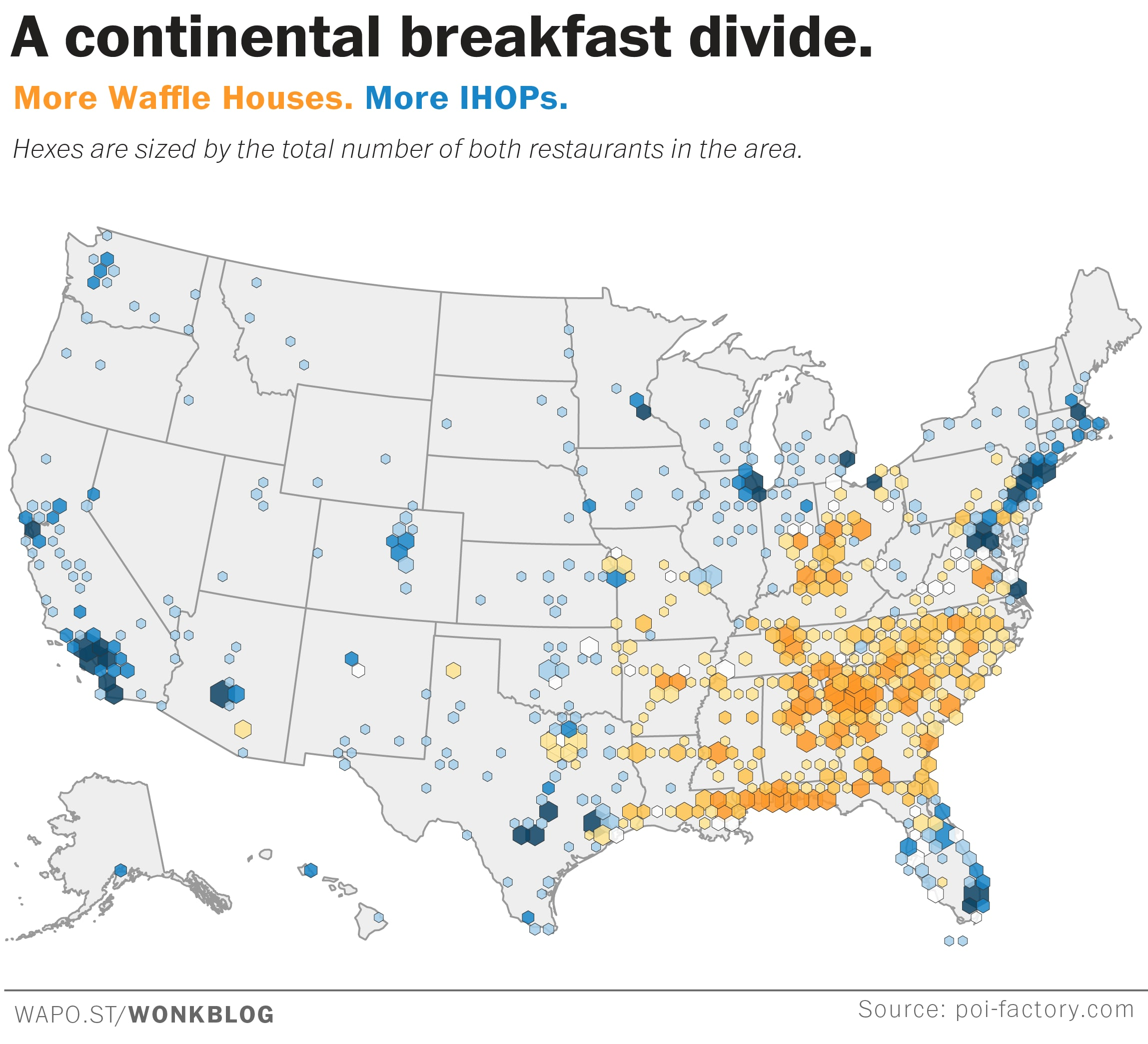 Map: How pancakes and waffles divide the nation - The ...