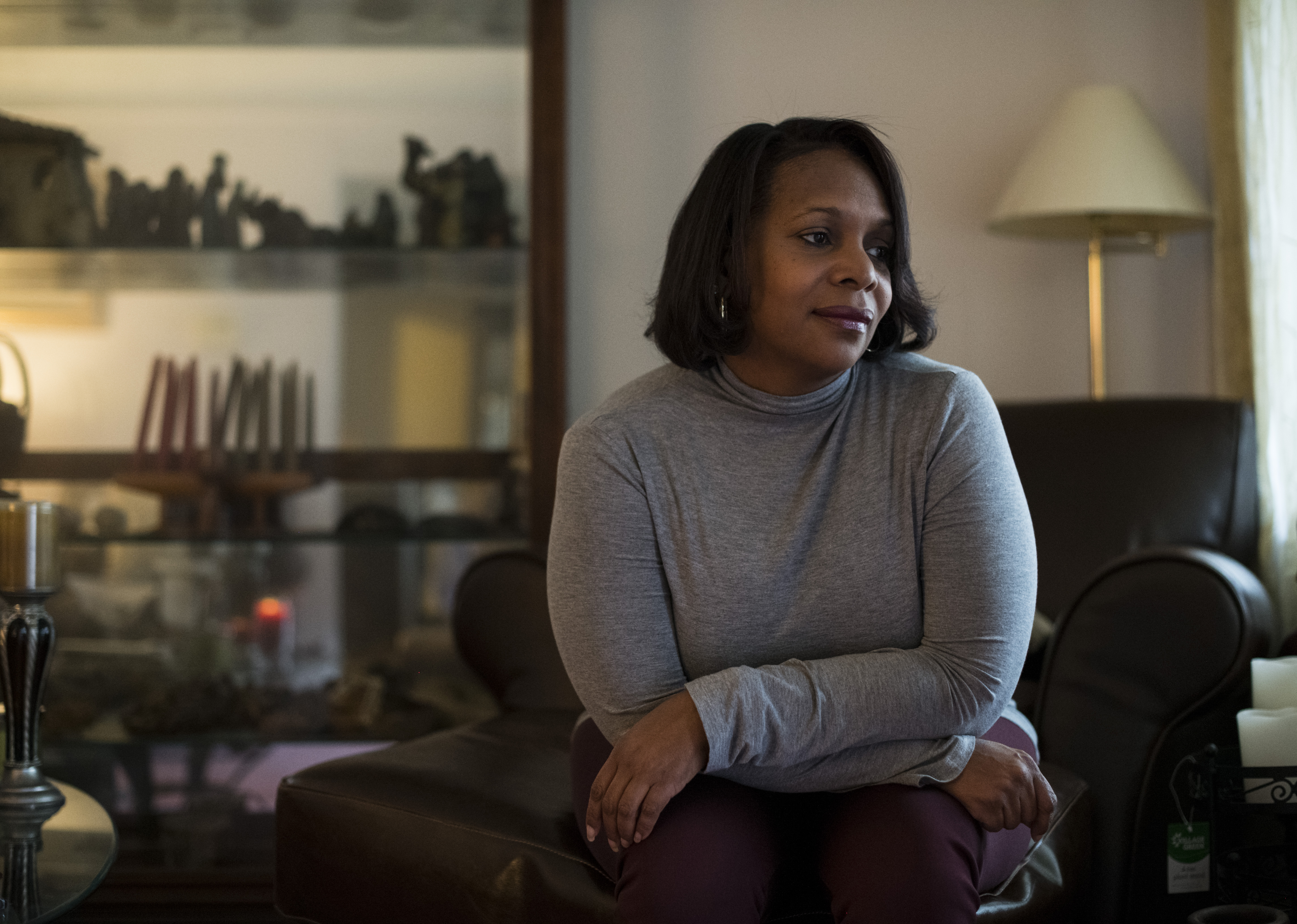 """Cheryl Monroe, a federal employee on furlough who also is a union official, said of the shutdown: """"This is not a time for us to lay down and take this."""" (Photo by Brittany Greeson/The Washington Post)"""