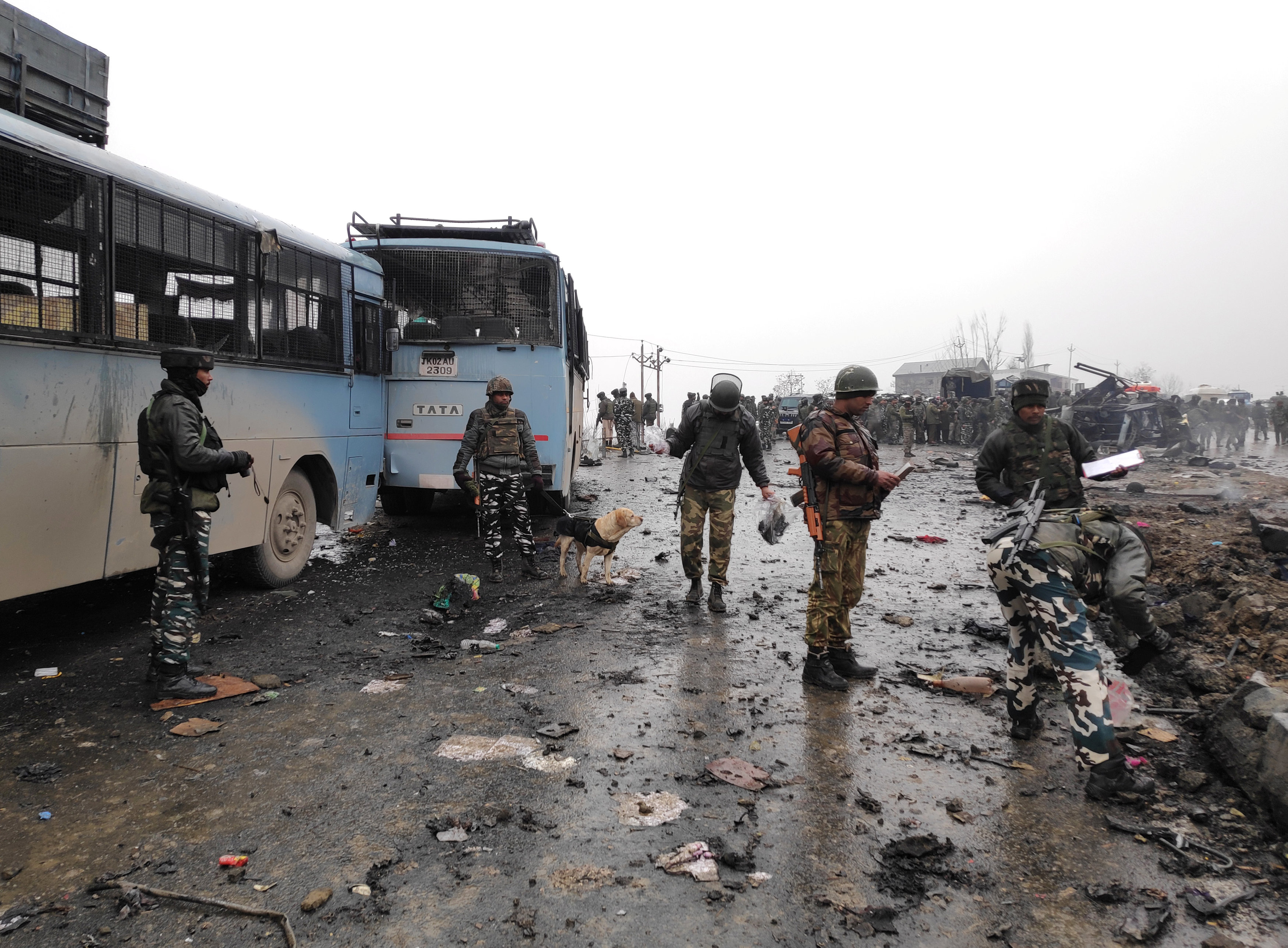 at least 38 killed in deadliest attack on security forces in indian