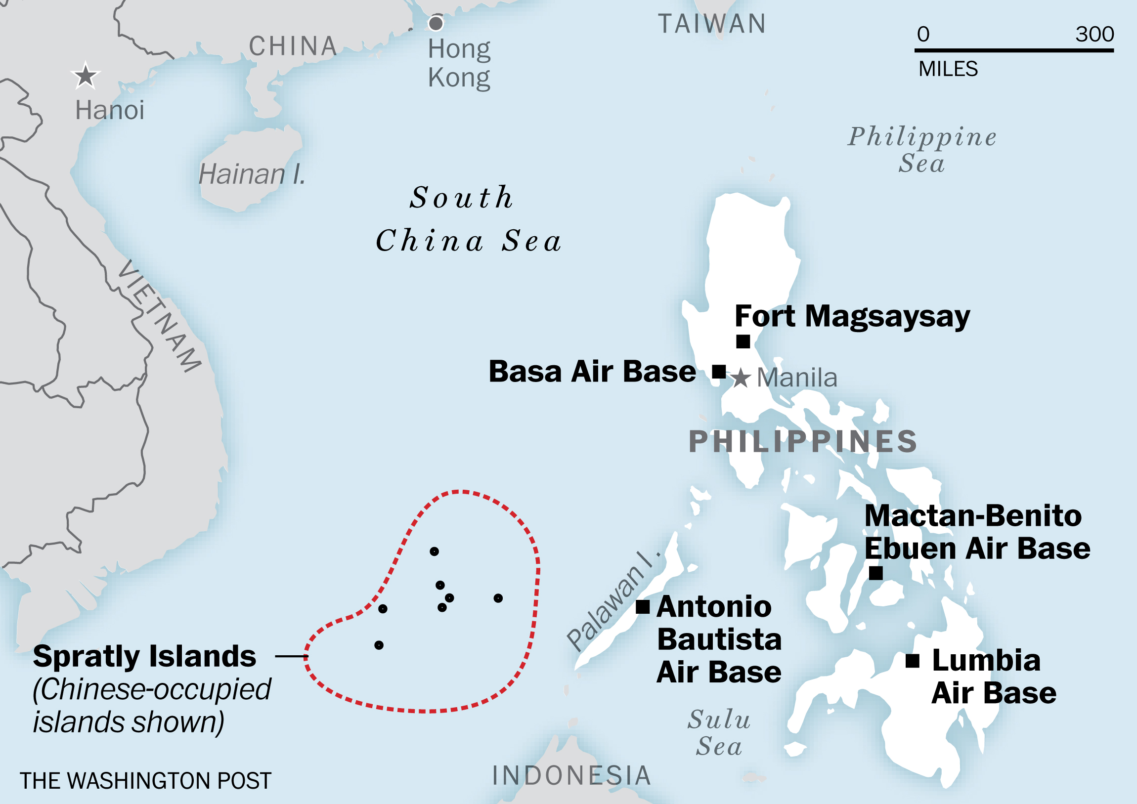 These are the bases the U.S. will use near the South China ...
