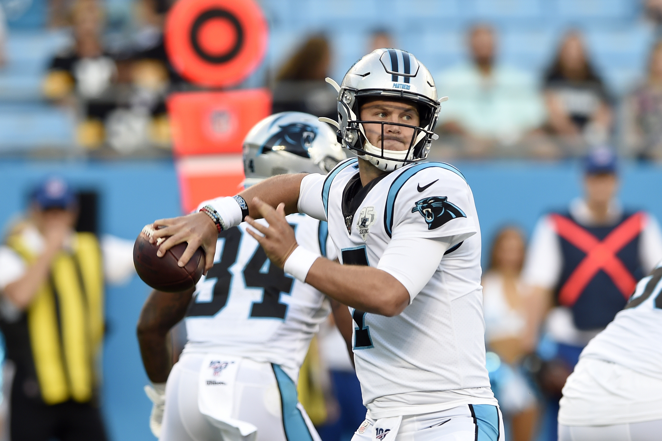 watch ade6a 729b7 Panthers' Cam Newton out; Kyle Allen steps in at QB - The ...
