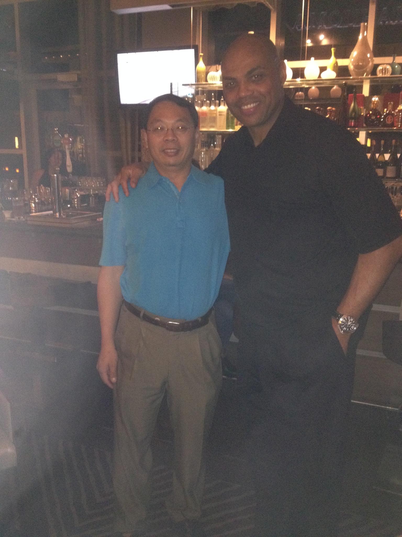 Lin Wang with his friend, NBA Hall of Famer Charles Barkley.