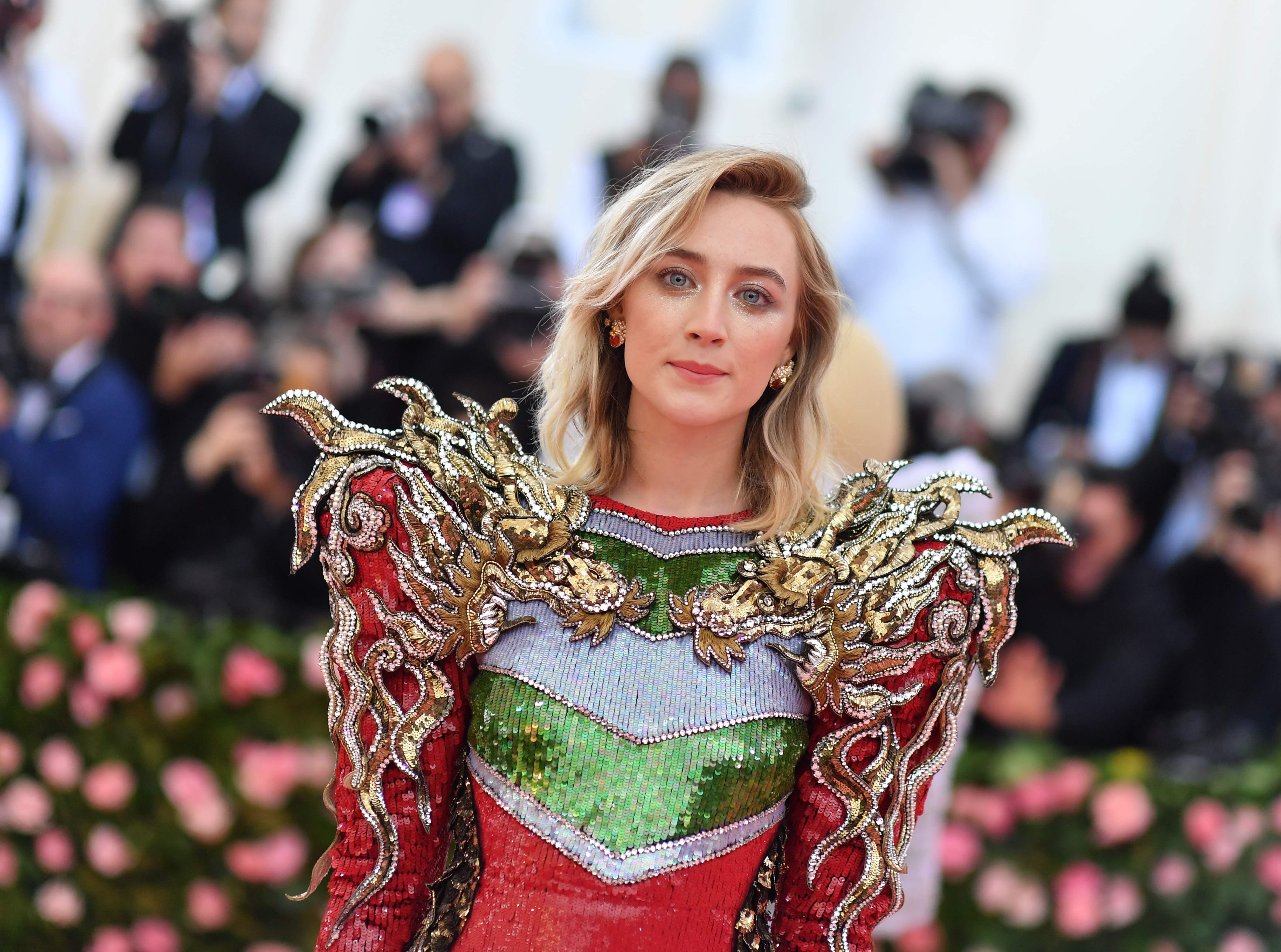 Saoirse Ronan wearing Gucci.