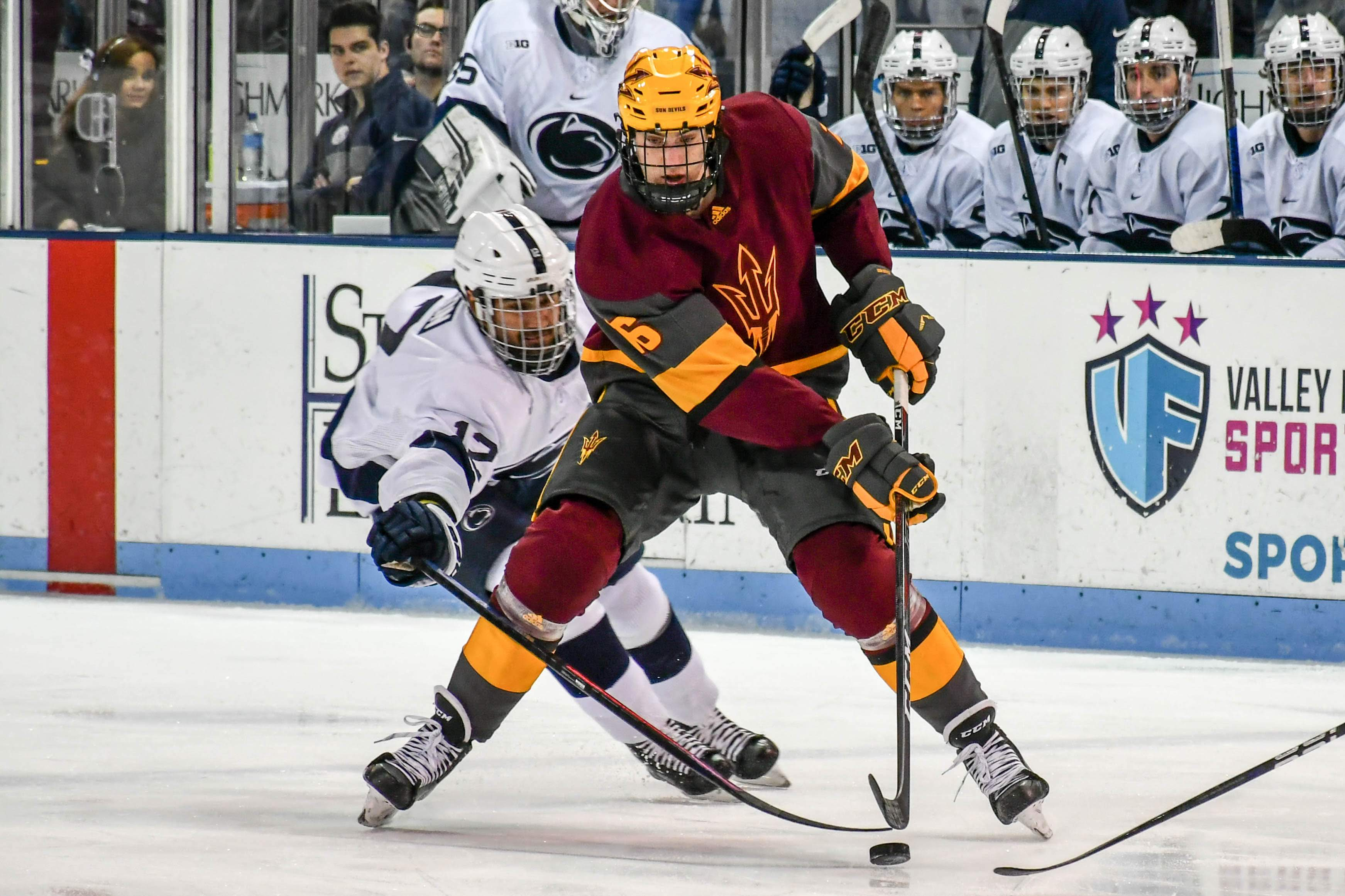 new product 600ec fbdf2 Son of Mario Lemieux helps carry Arizona State to first NCAA ...