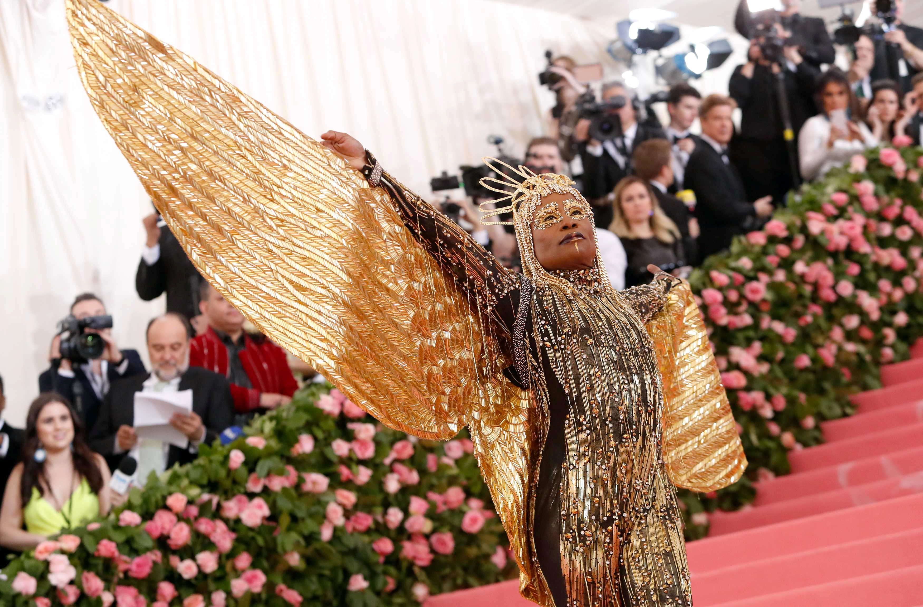 Billy Porter wearing The Blonds.