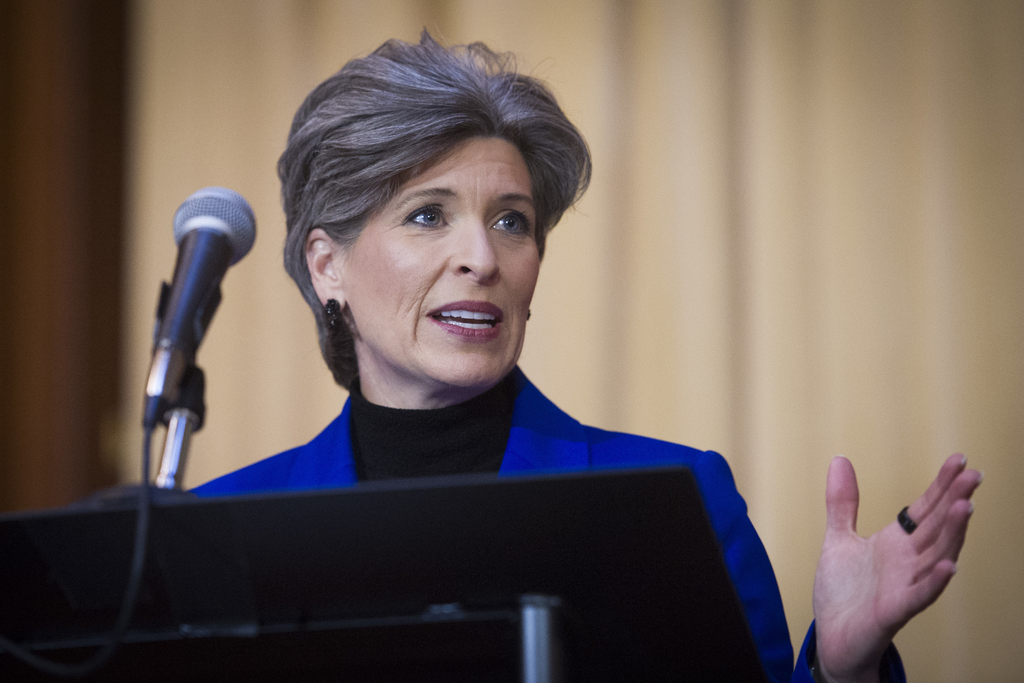 """I was embarrassed,"" Sen. Joni Ernst (R-Iowa) said of her decision not to report her sexual assault in college to the police. ""I didn't know how to explain it. I was so humiliated. And I'm a private person, when it comes to those things."" (Cliff Owen/AP)"