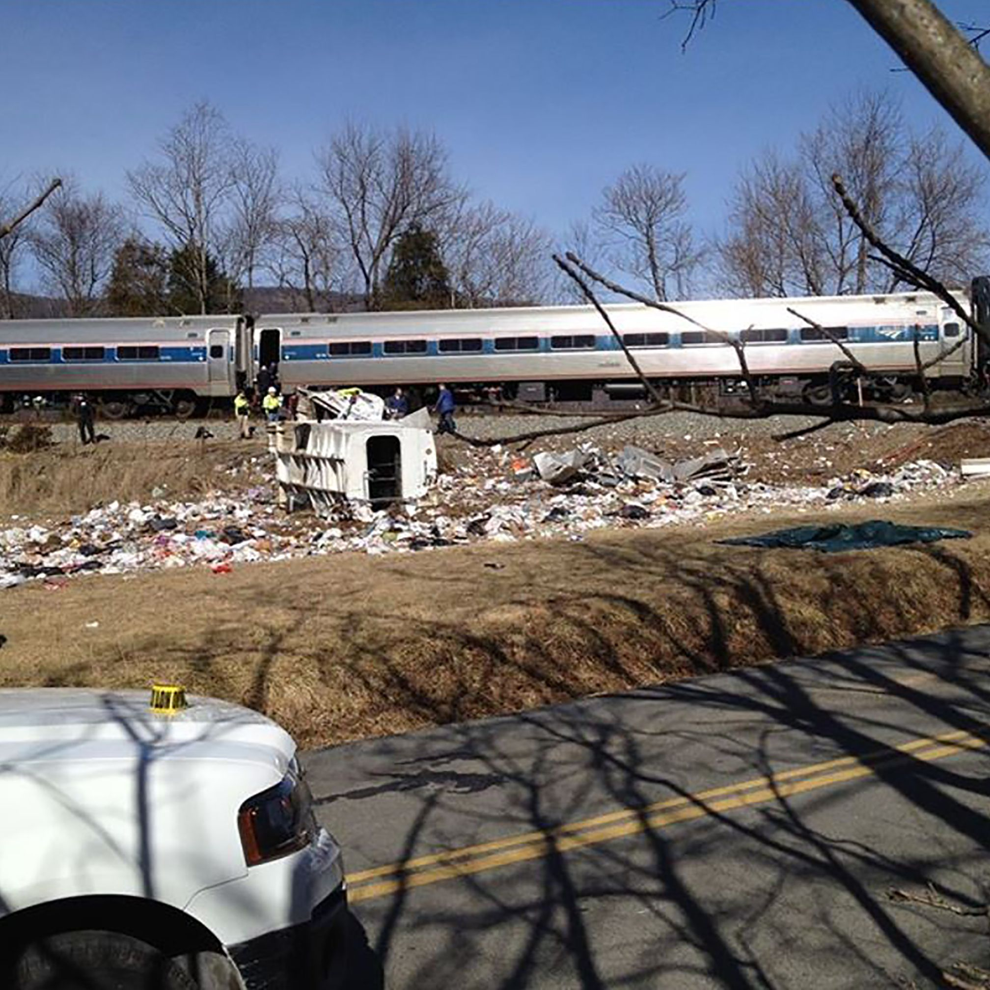 One person killed when Amtrak train carrying GOP lawmakers to