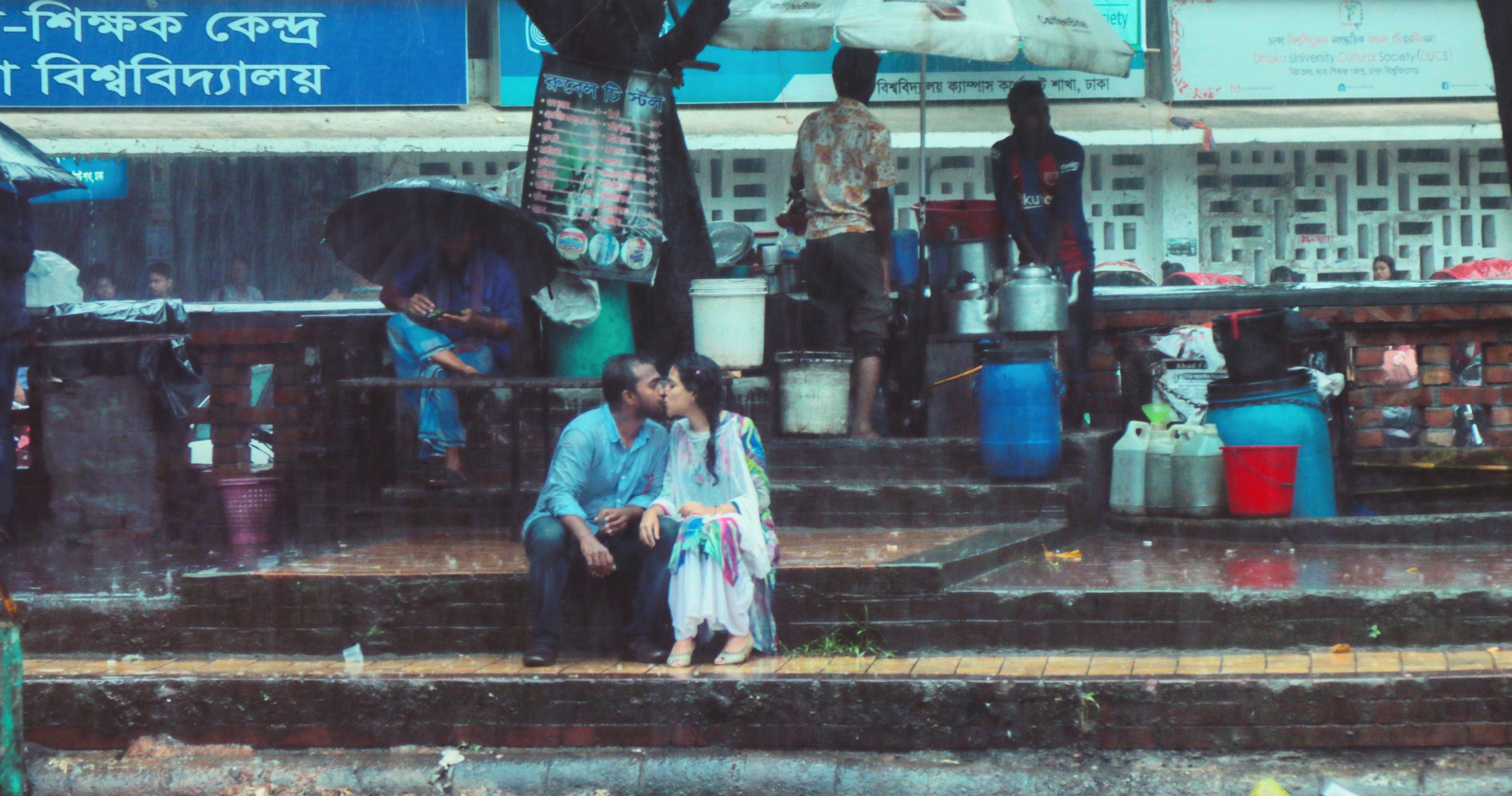 A viral photo of lovers kissing offended many in Bangladesh  The man