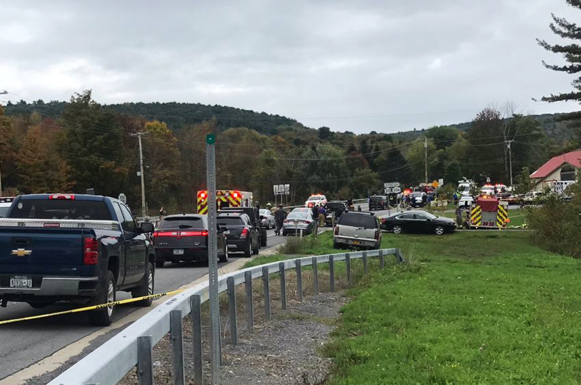 New York limousine crash: At least 20 killed in accident in