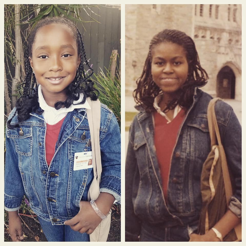 An 8-year-old dressed as her hero Michelle Obama for school. The former first lady noticed.