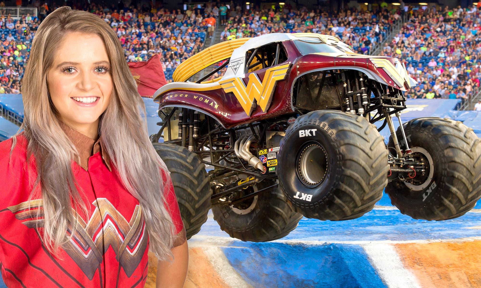 Who S Driving That Wonder Woman Truck Meet Monster Jam S Collete Davis The Washington Post