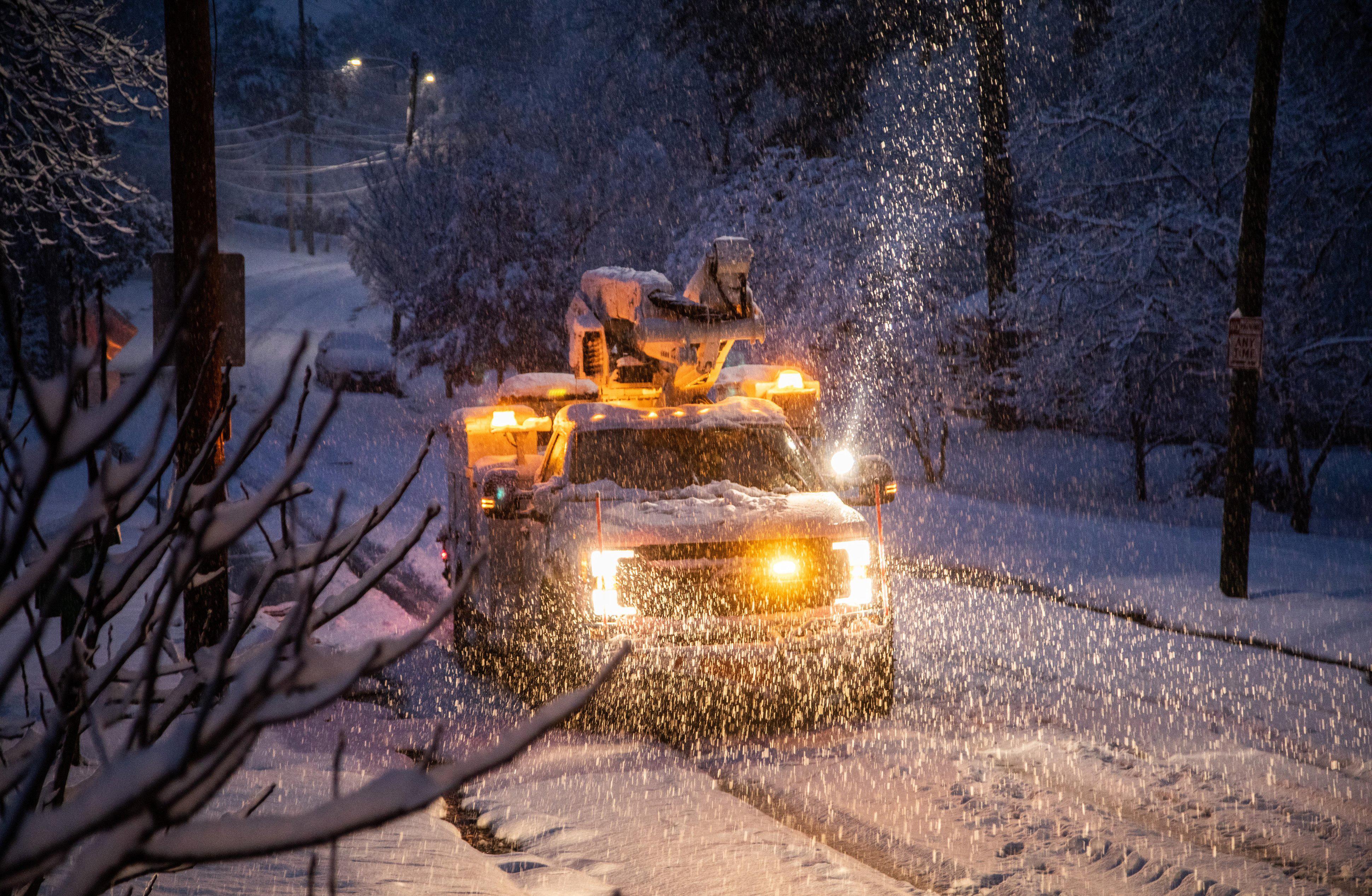 Winter storm hits parts of Georgia, Carolinas and Virginia