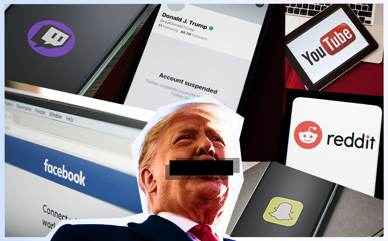 Trump and his allies are banned from these platforms - The Washington Post