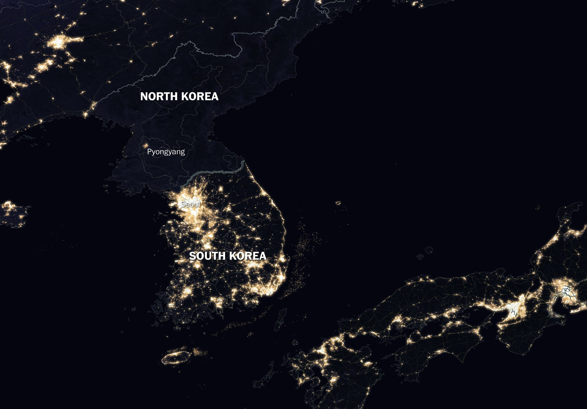 фото из космоса северной и южной кореи изучение анатомии плода